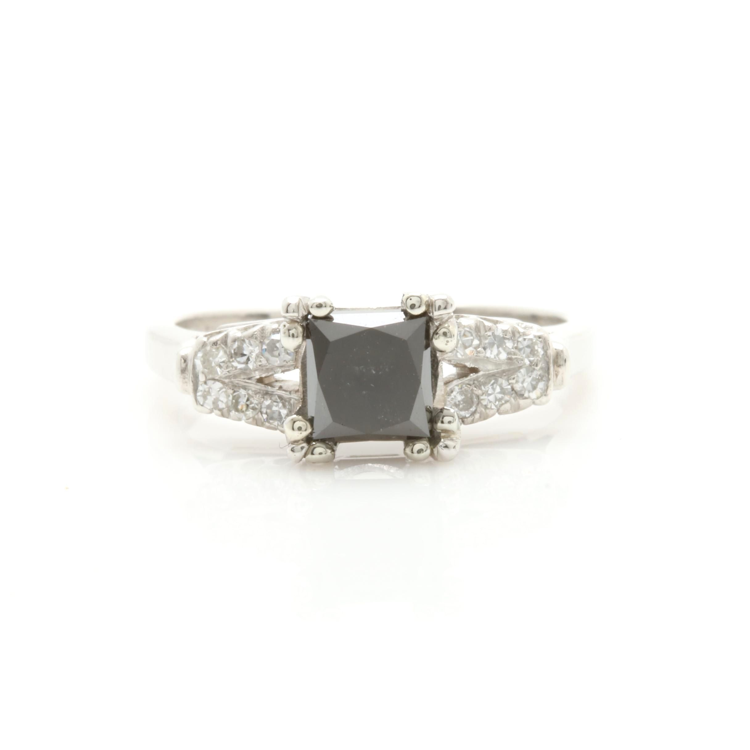 Platinum 1.14 CTW Diamond Ring