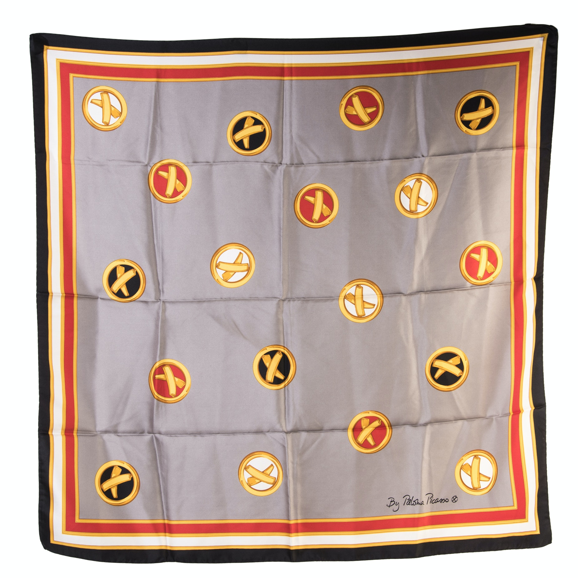 Paloma Picasso Silk Scarf, Made in Italy