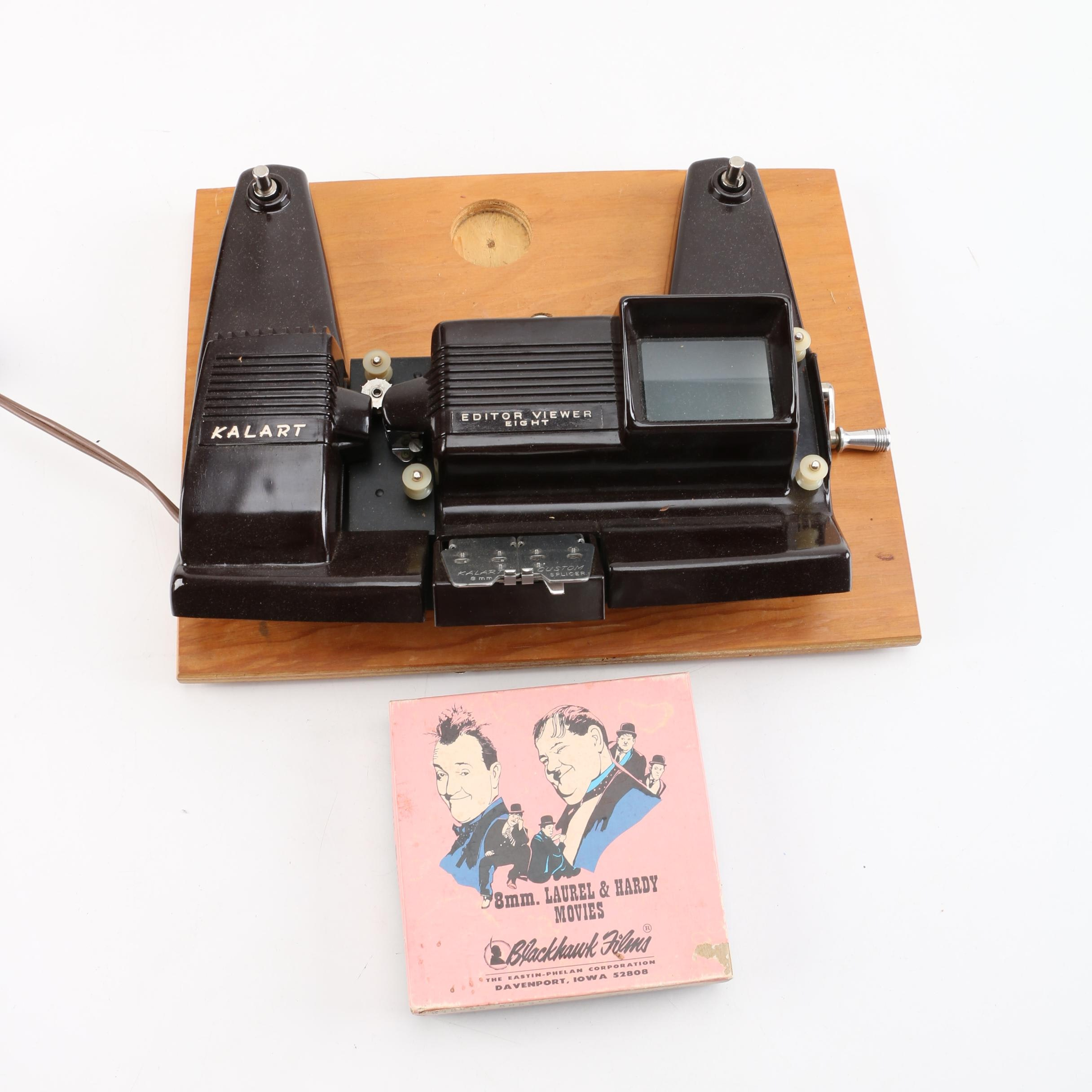 Vintage Kalart Editor Viewer Eight with Laurel & Hardy 8mm Movie Reel