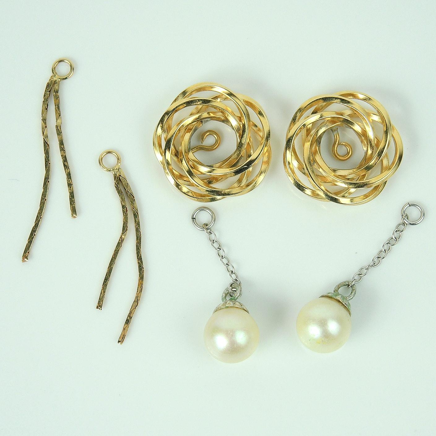 Gold Earring Jackets Assortment