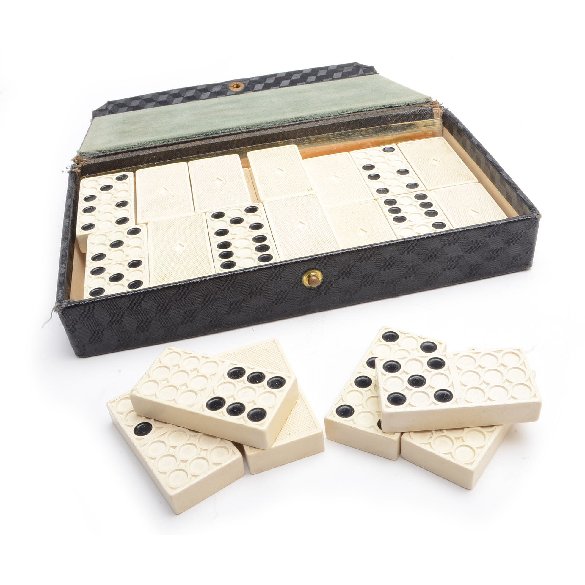 1930 Celluloid Domino Set