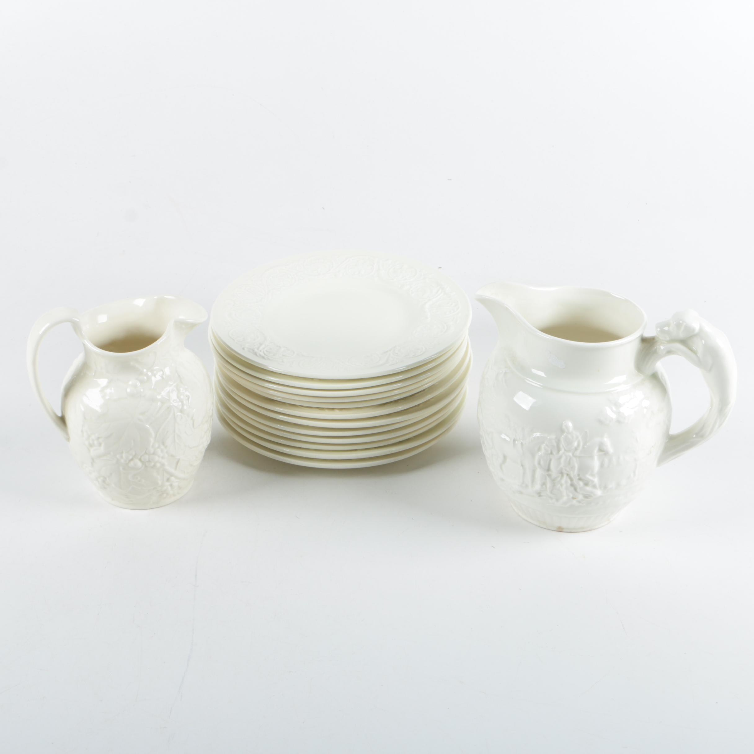 "Wedgwood Embossed Earthenware Pitchers and ""Patrician"" Plates 1927-86"
