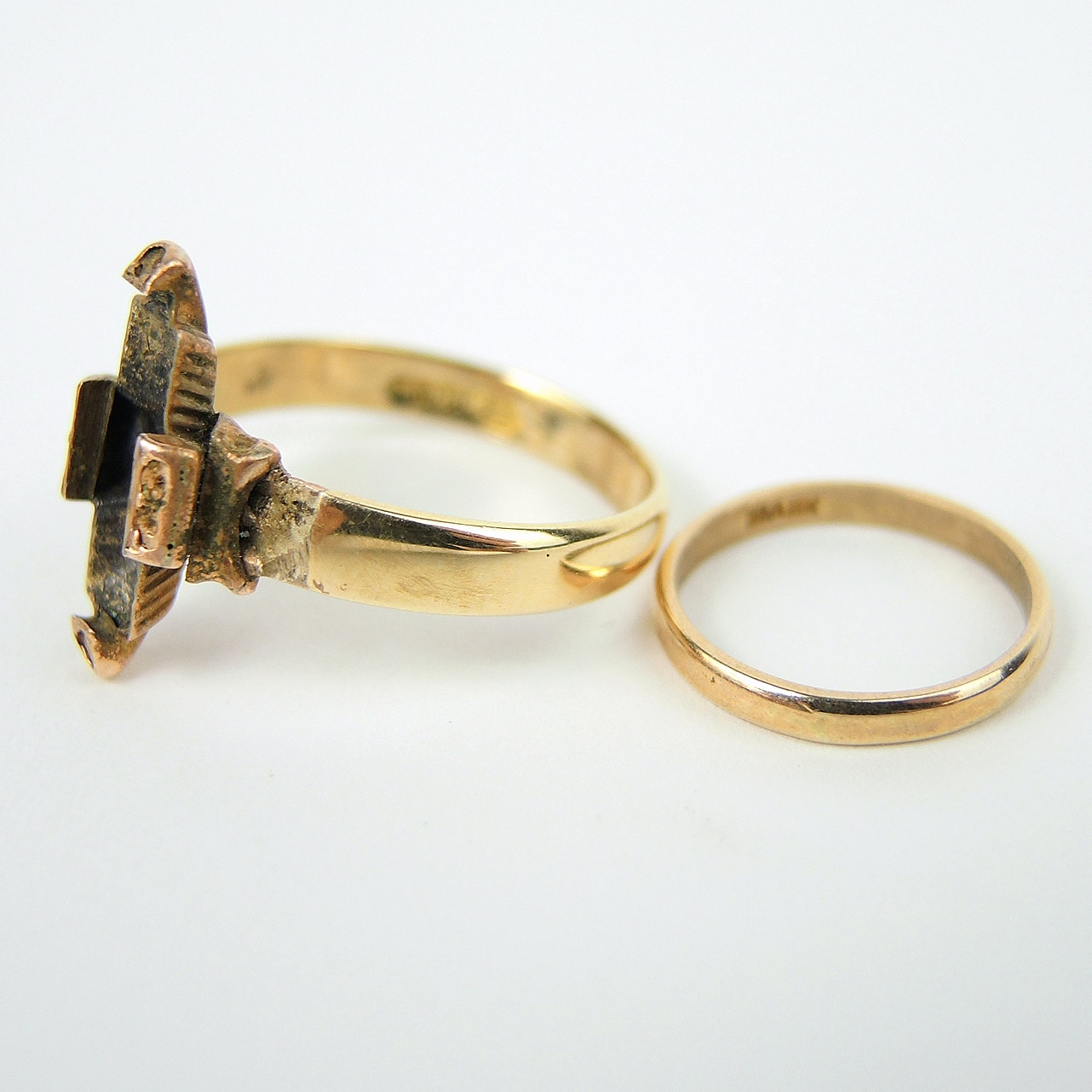 14K Yellow Gold Ring and 10K Infant Ring