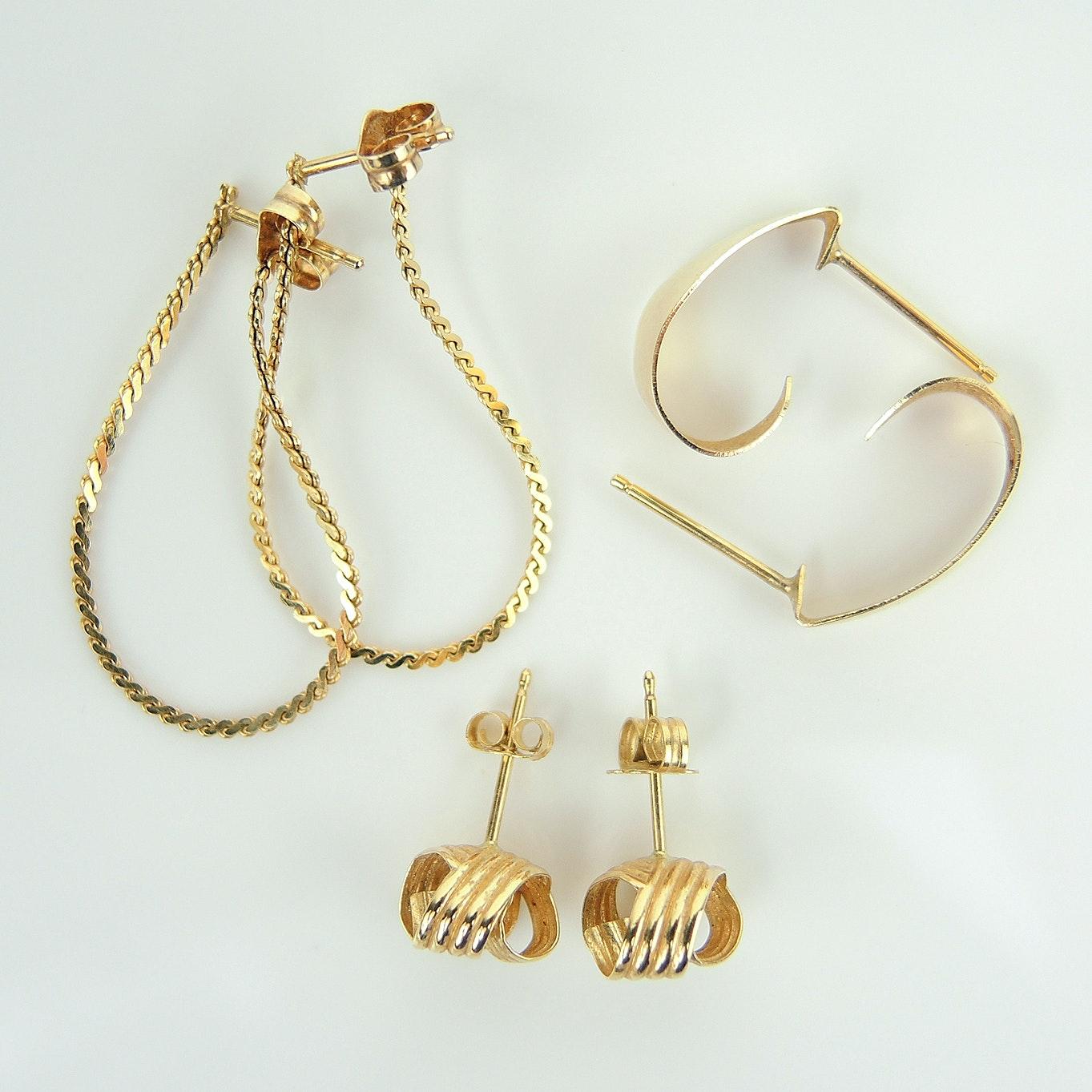 14K Yellow Gold Earring Assortment