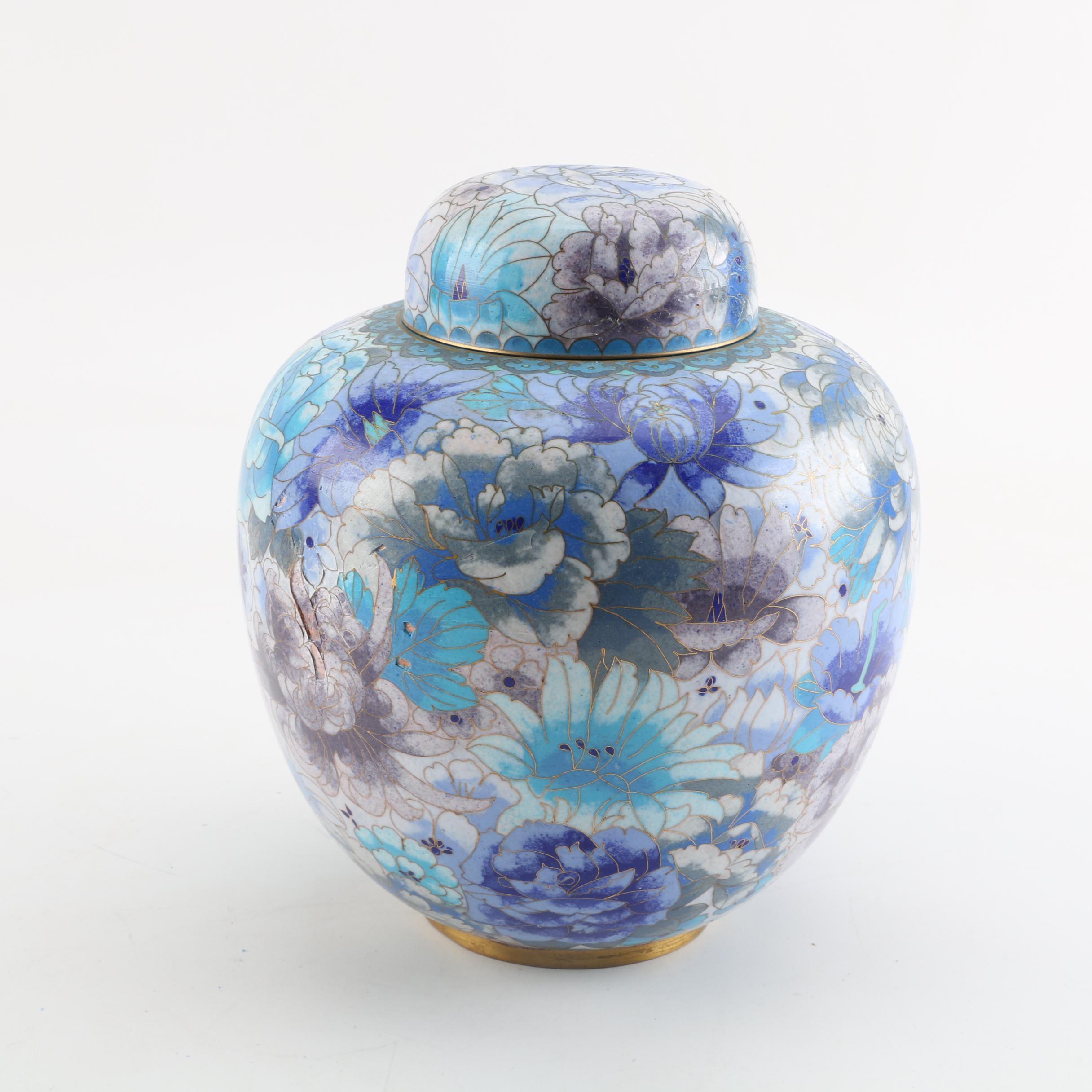 Chinese Cloisonné Ginger Jar