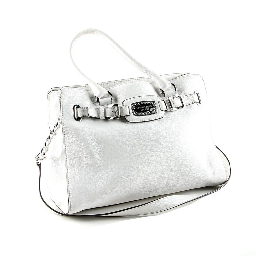 c7945faf328c Michael Michael Kors White Leather Satchel Handbag : EBTH