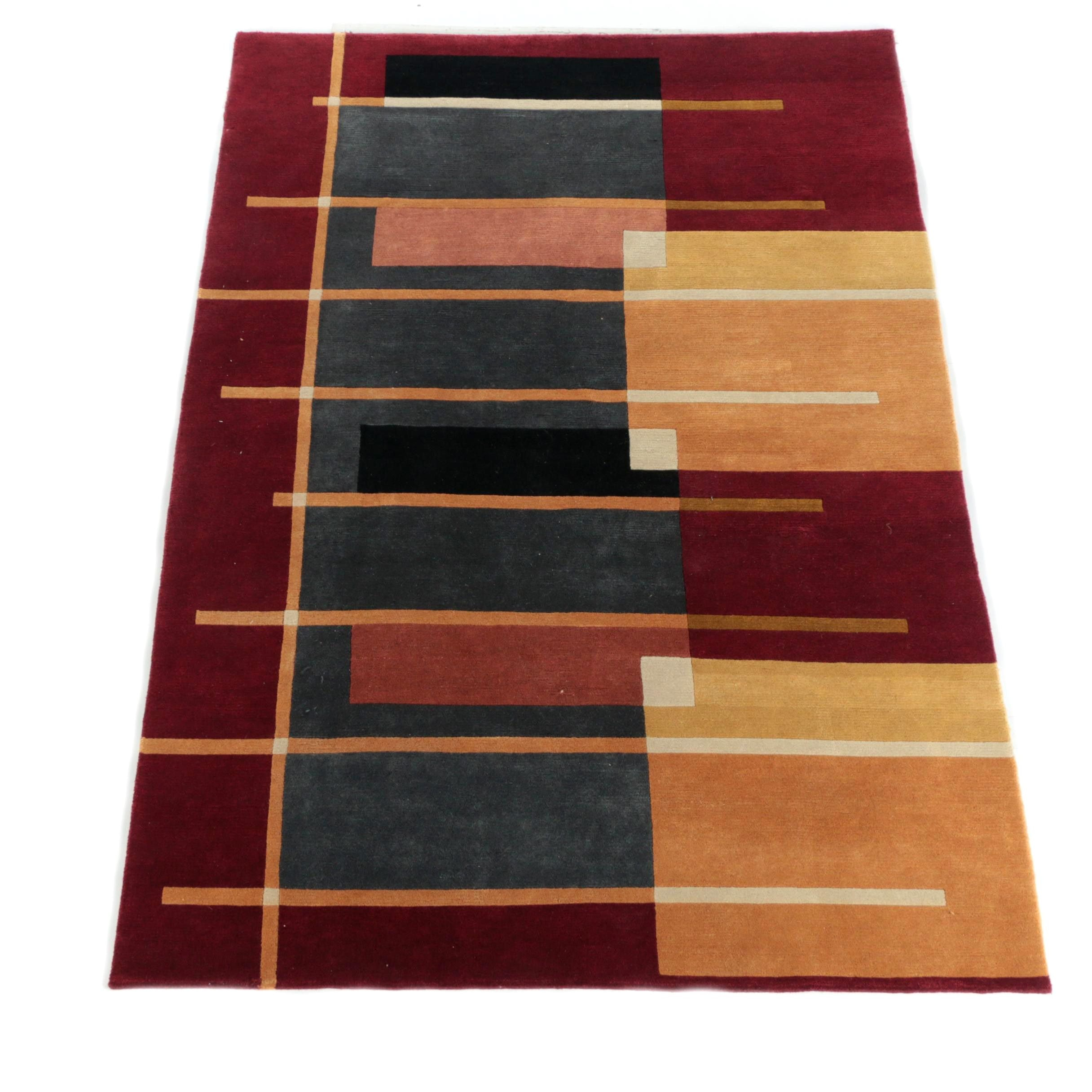 Hand-Knotted Nepalese Wool Area Rug