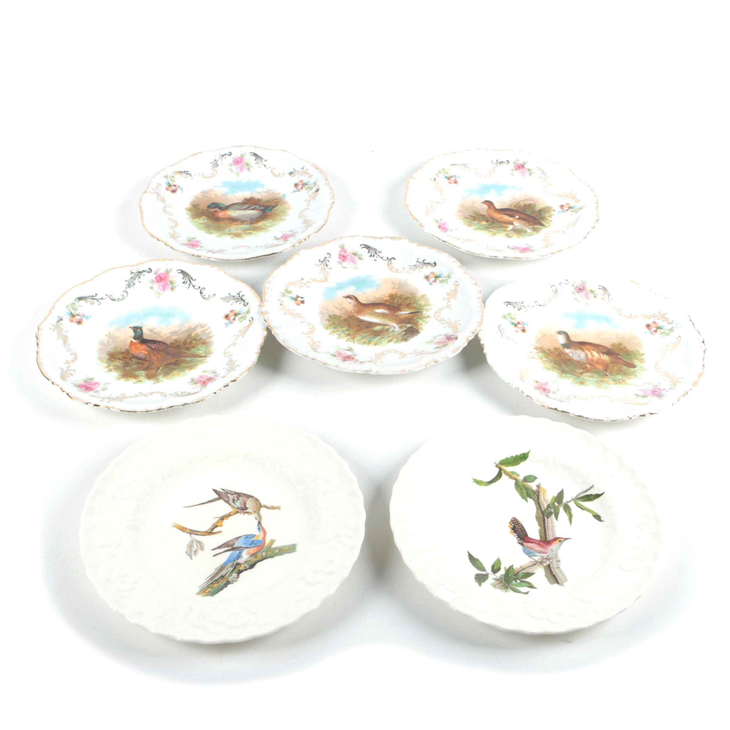Alfred Meakin and Porcelain Moschendorf Factory Plates