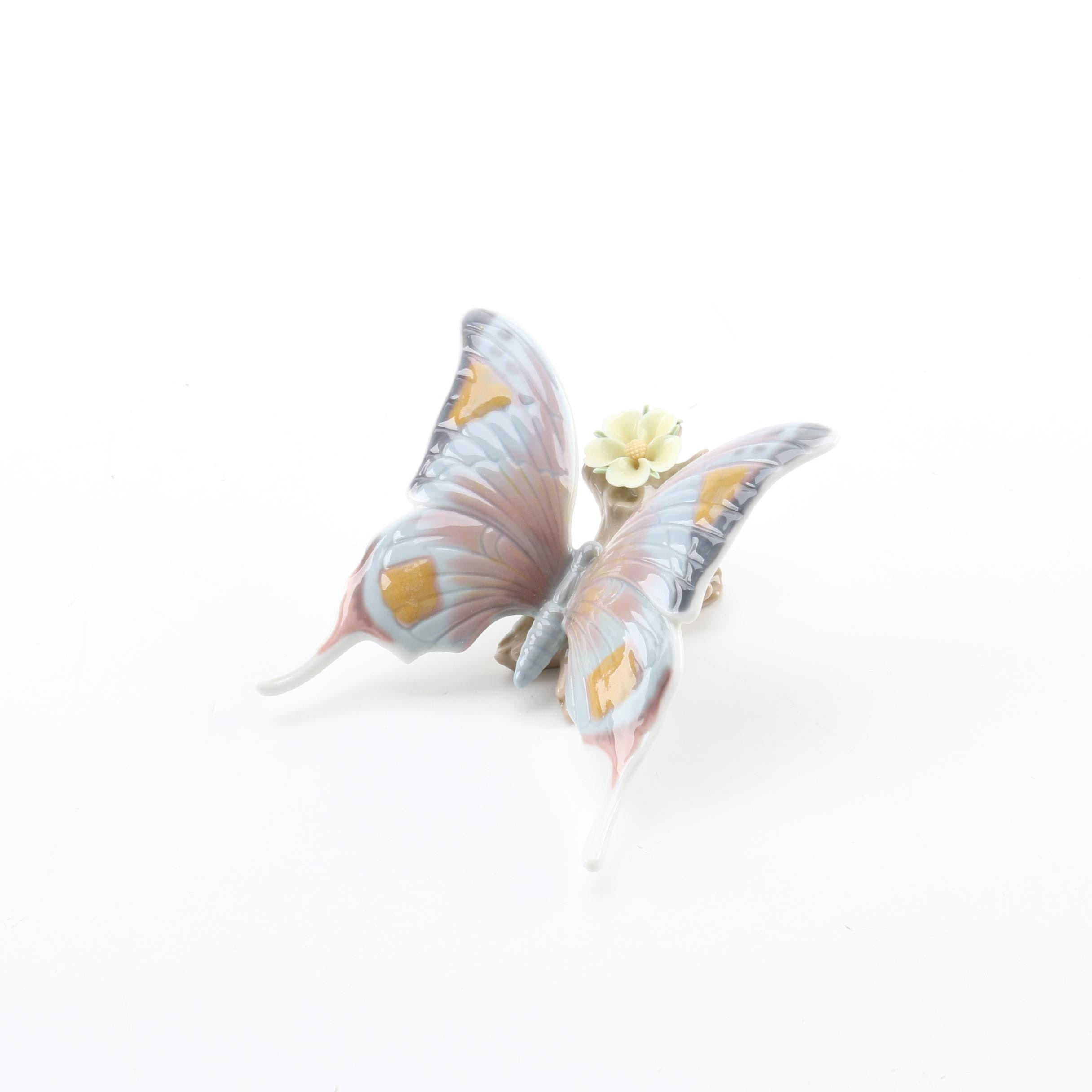 """Lladró """"From Nature's Palette"""" Butterfly Figurine"""