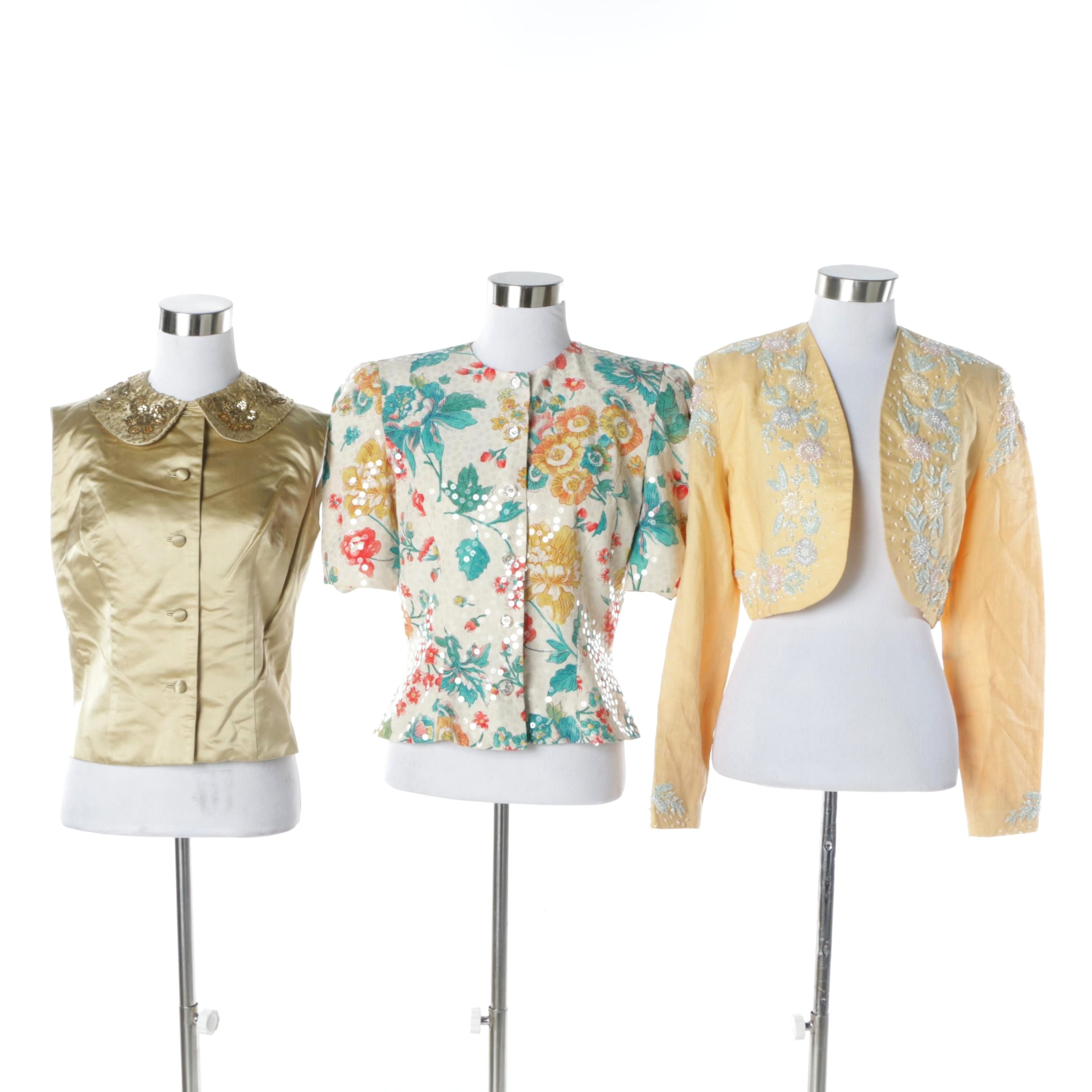 Women's Vintage Embellished Button-Ups and Blazers