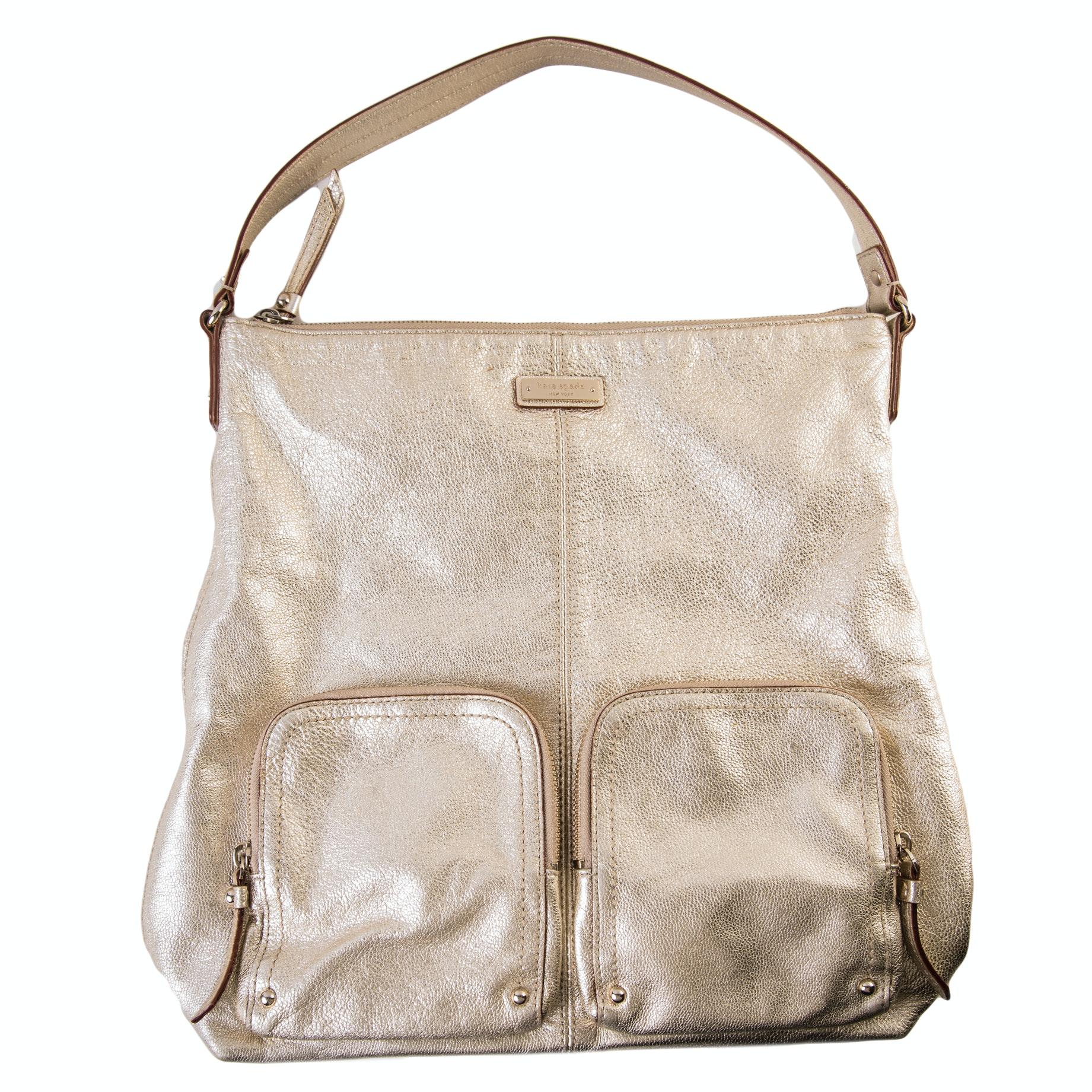 Kate Spade Gold Tone Shoulder Bag