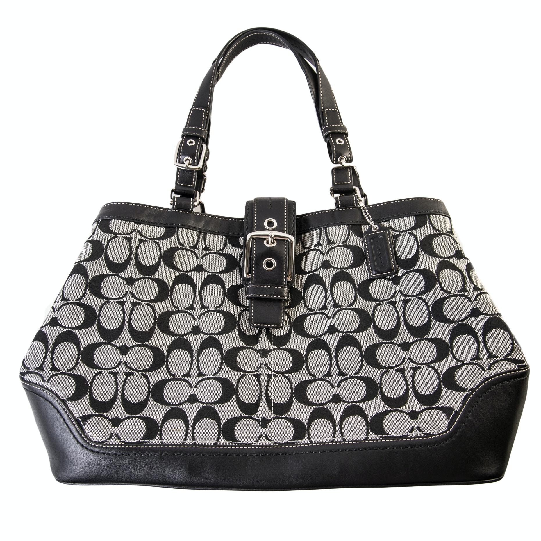 Coach Signature Hampton Carryall Handbag