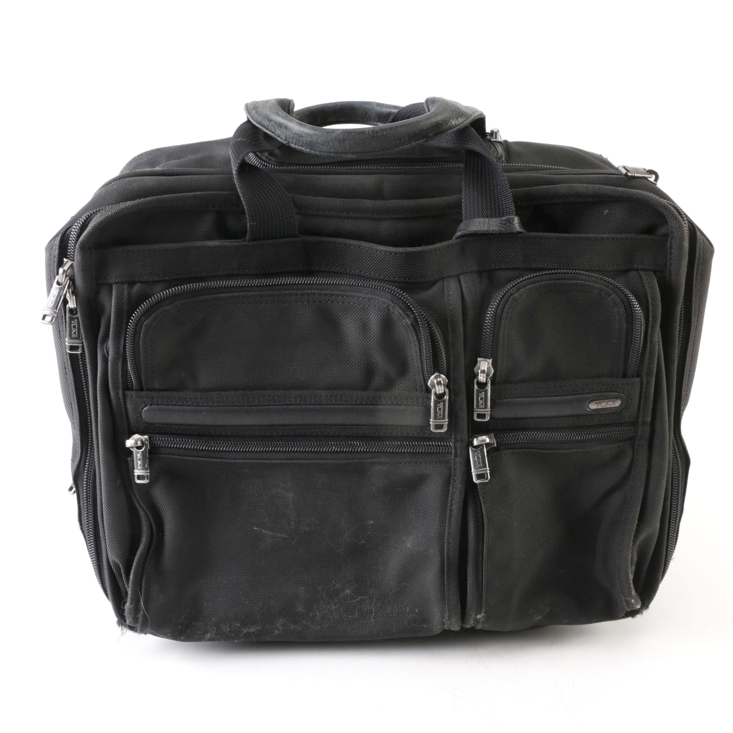 Tumi Black Canvas Rolling Carry-On Suitcase