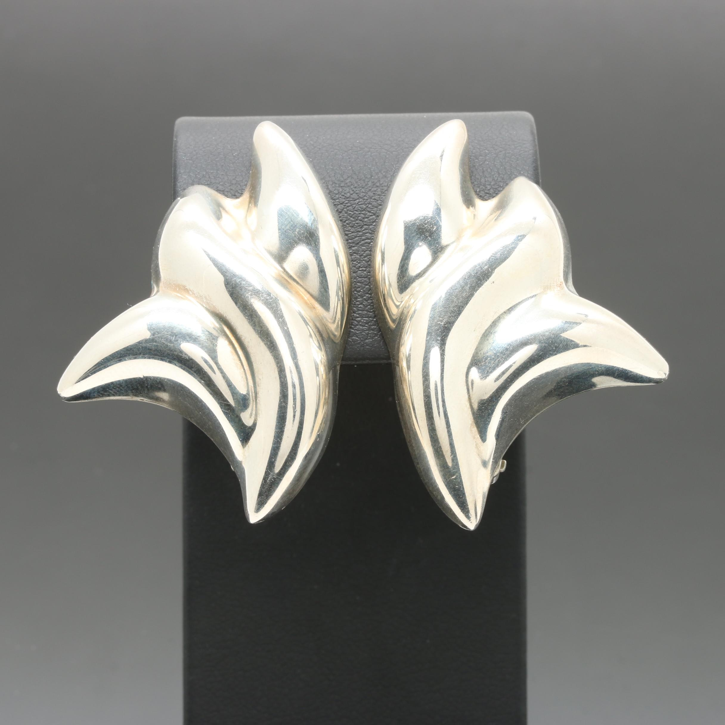 Sterling Silver Mexican Made Earrings