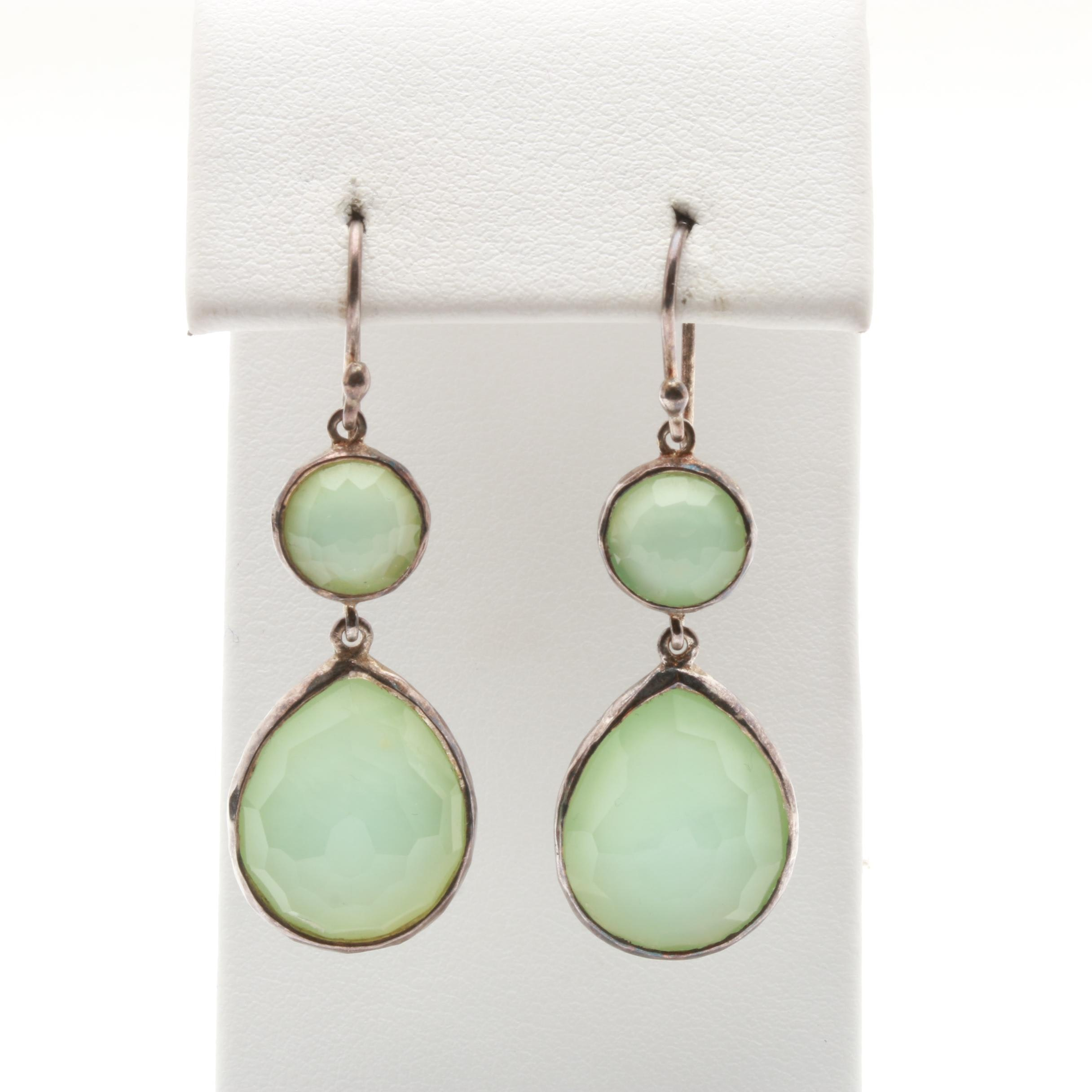 Ippolita Sterling Silver Quartz and Mother of Pearl Doublet Dangle Earrings