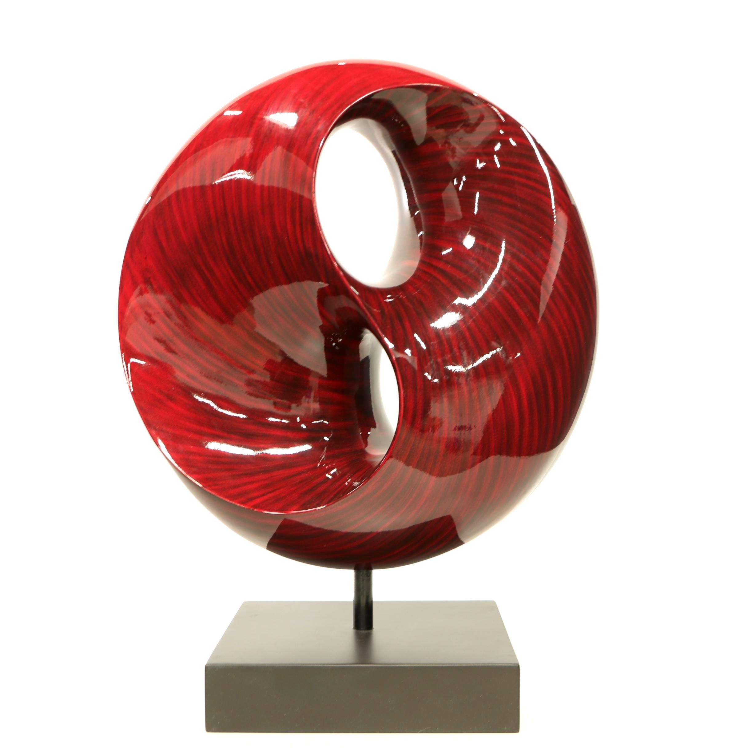 Modern Lacquered Wooden Sculpture