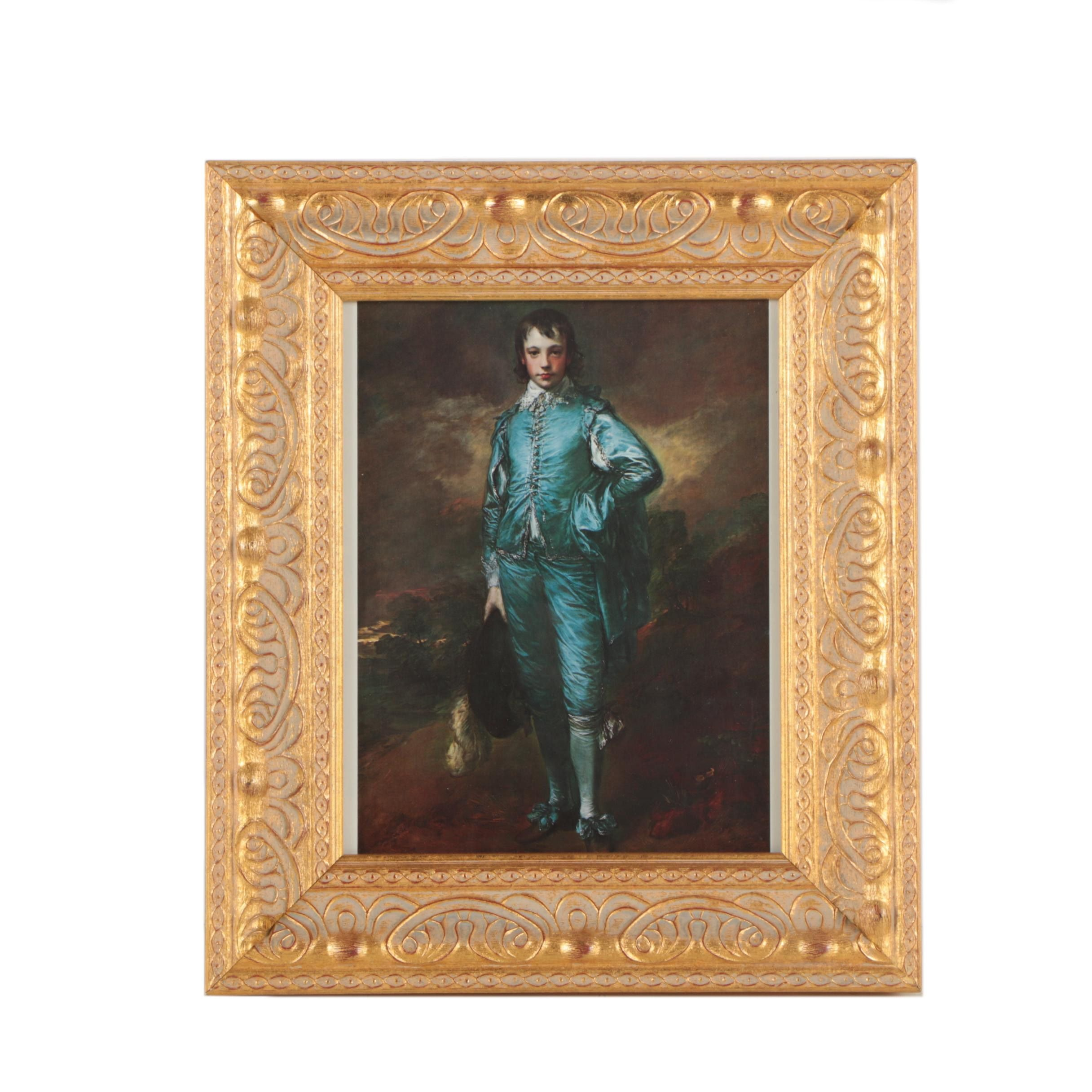 "Offset Lithographic Reproduction Print After Thomas Gainsborough ""Blue Boy"""