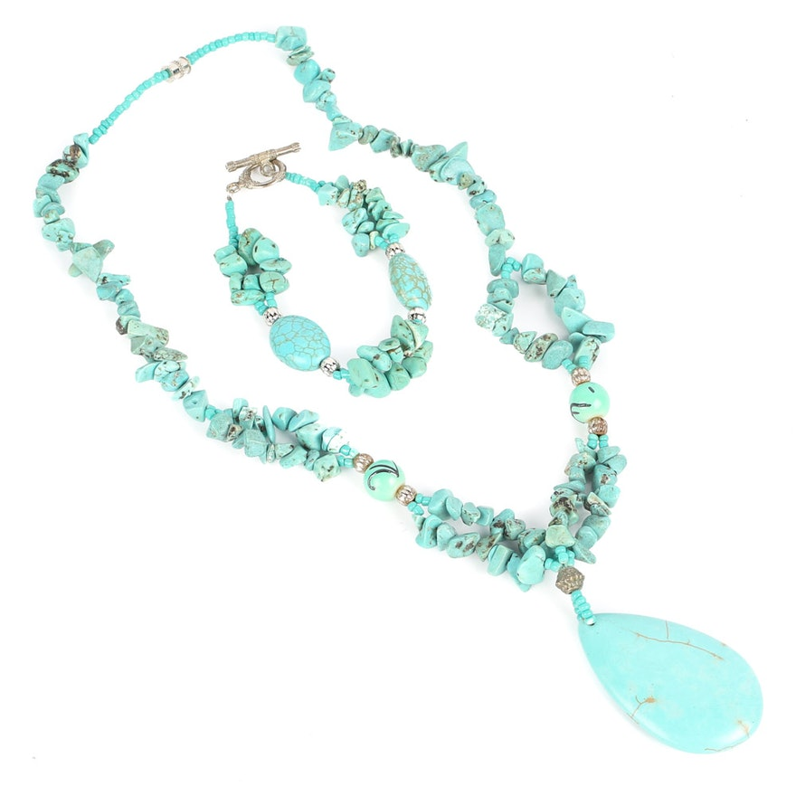 clasp with kavels gold jewellery length kt turquoise necklace