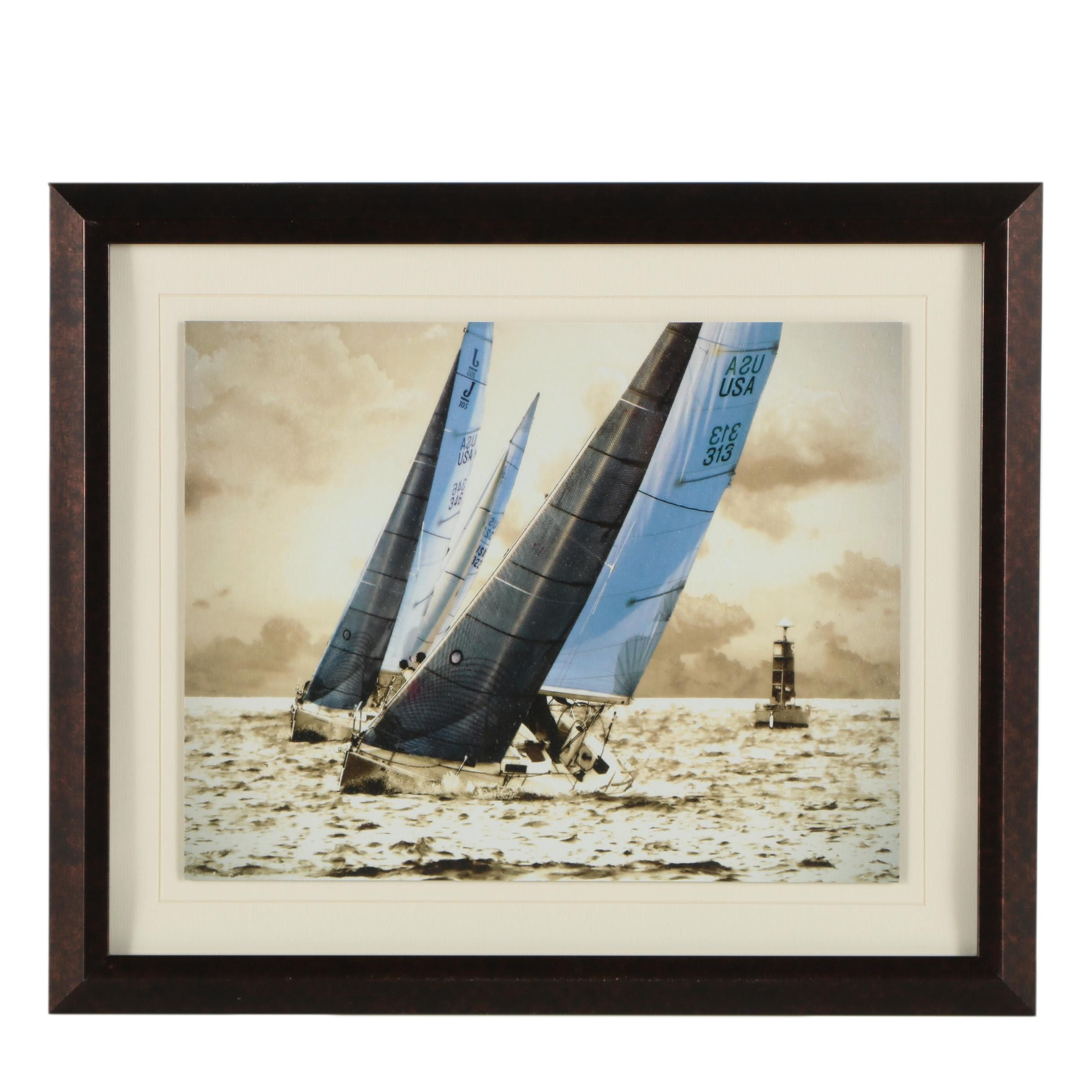 """Alan Hausenflock Offset Lithograph """"Racing Waters I"""""""