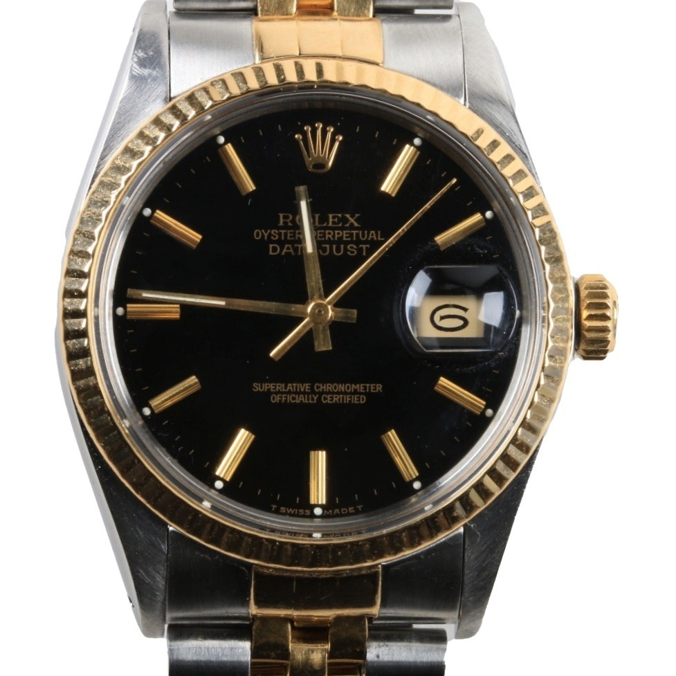 Rolex Oyster Perpetual Datejust 18K Gold and Stainless Steel Wristwatch