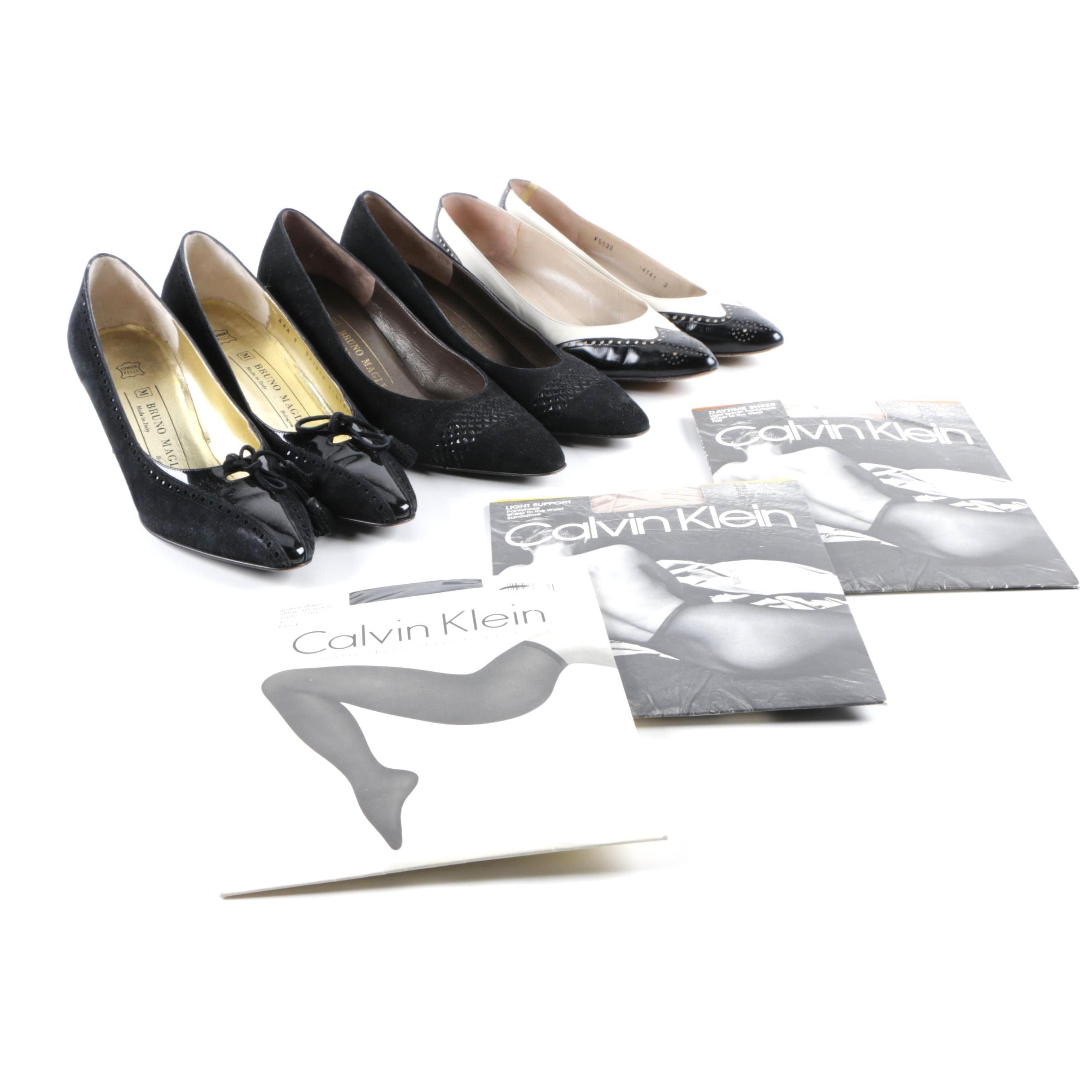 Women's Bruno Magli Heels and Calvin Klein Pantyhose