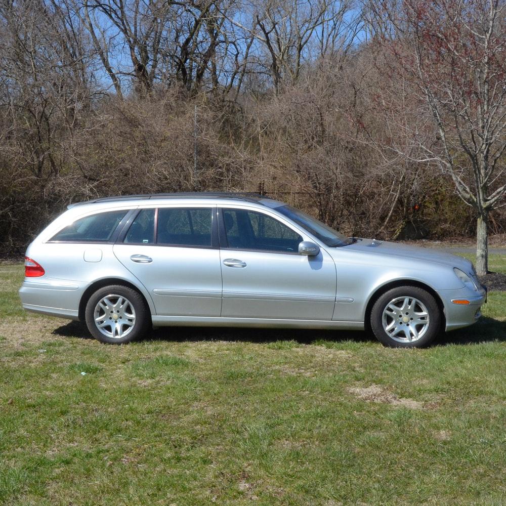 2004 Silver Mercedes Benz E-Class E320 Wagon
