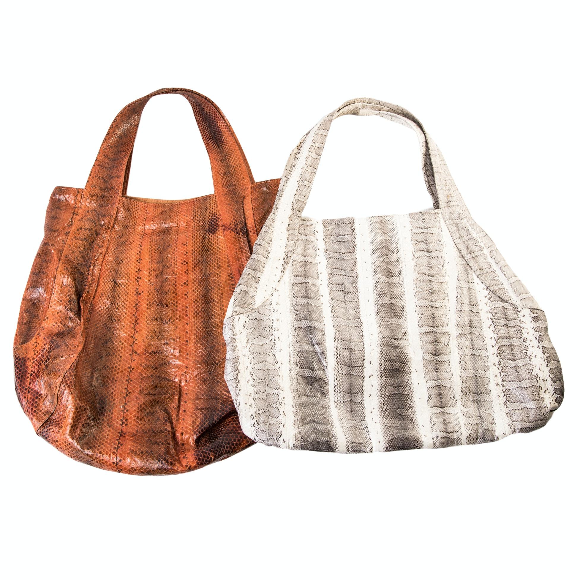 Beirn Jenna Snakeskin Tote Handbags