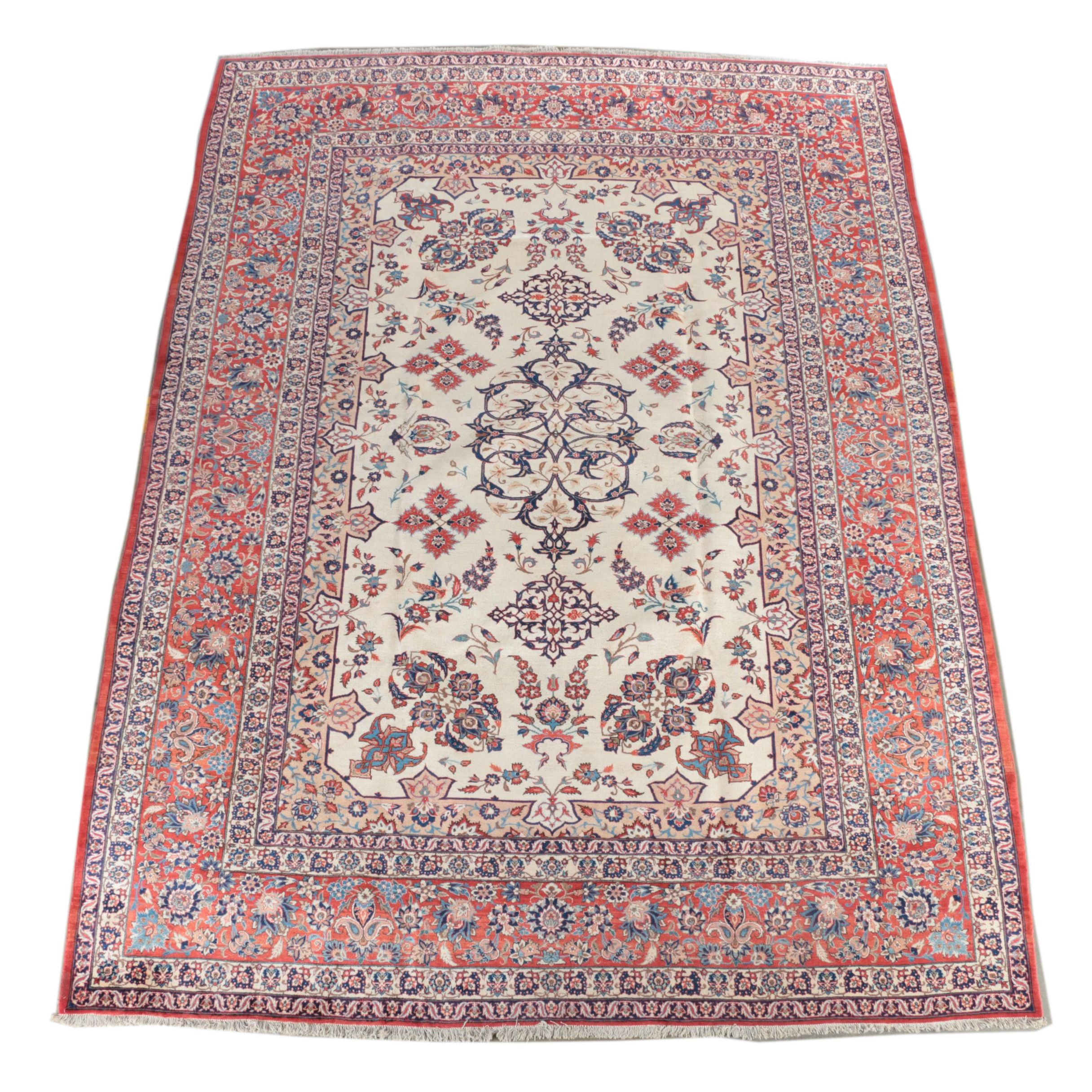 Very Fine Hand-Knotted Isfahan Room Size Rug