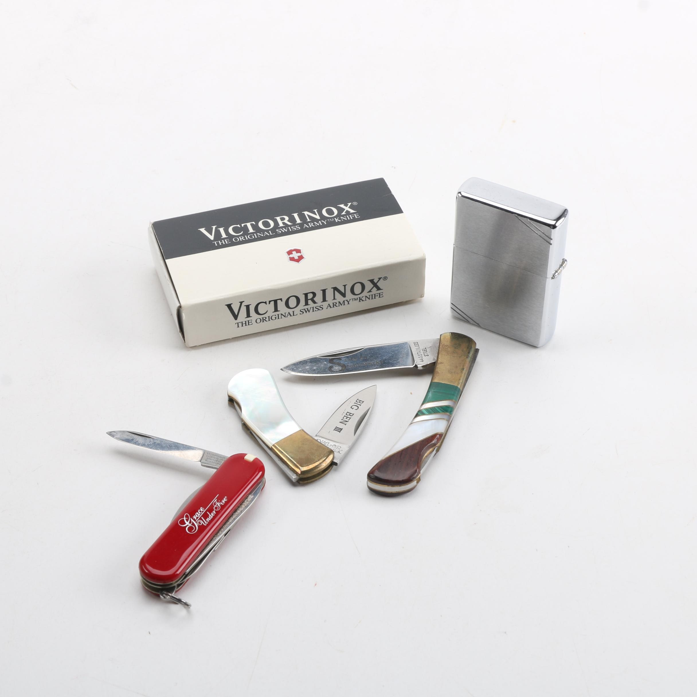 Pocket Knives and Zippo Lighter