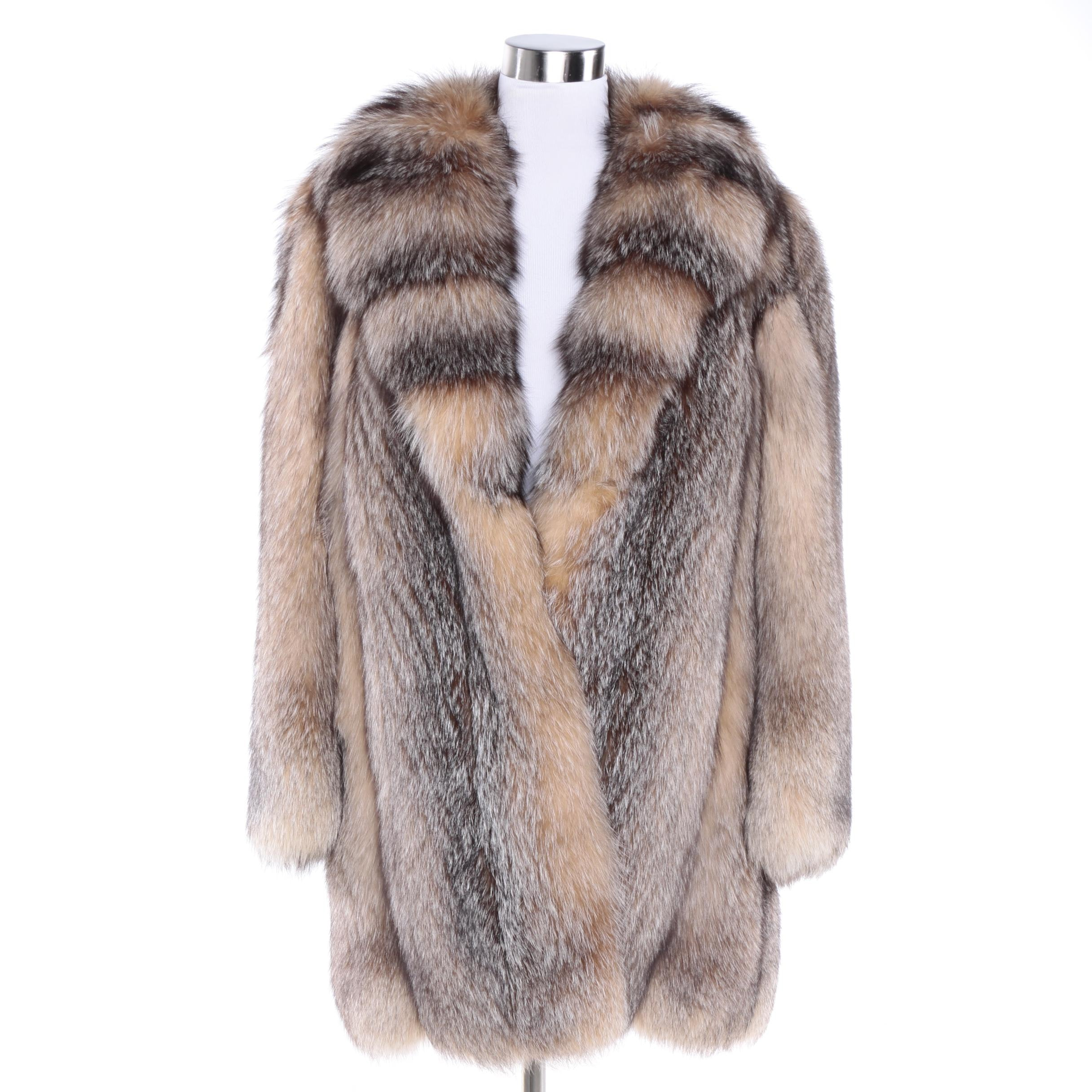 Women's L.S. Ayres & Co. Crystal Fox Fur Coat