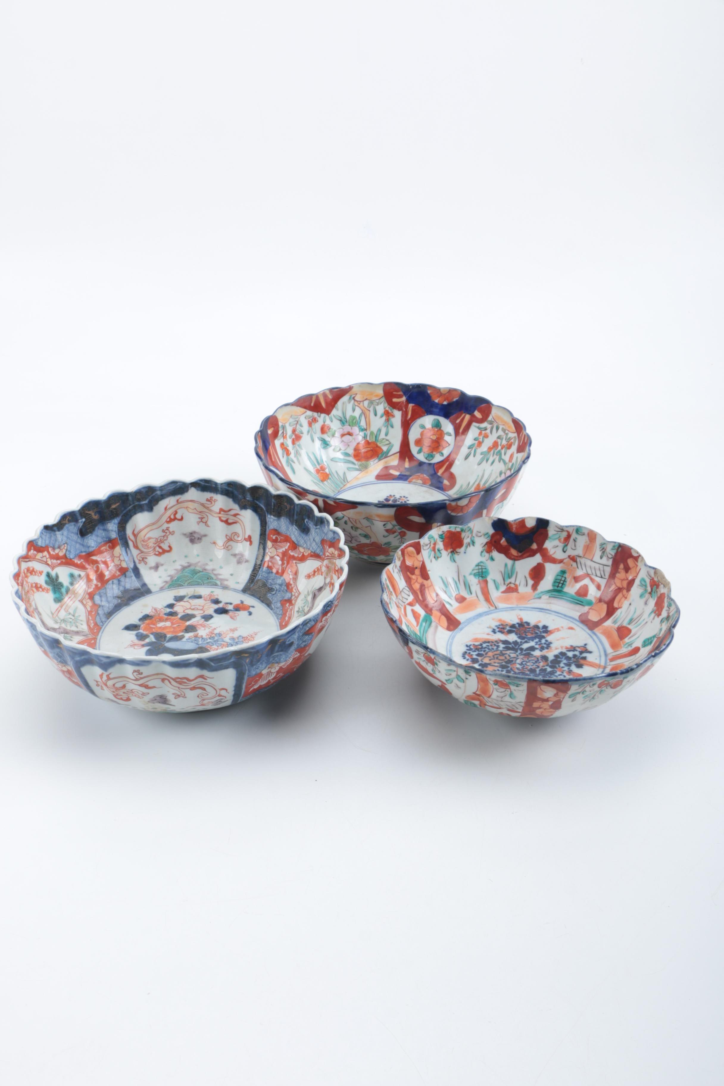 Antique and Vintage Japanese Imari Bowls