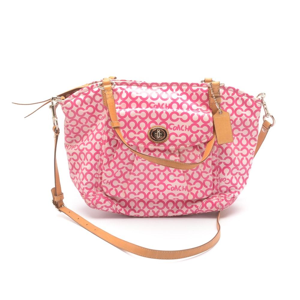 Coach Op Art Leah Tote Handbag