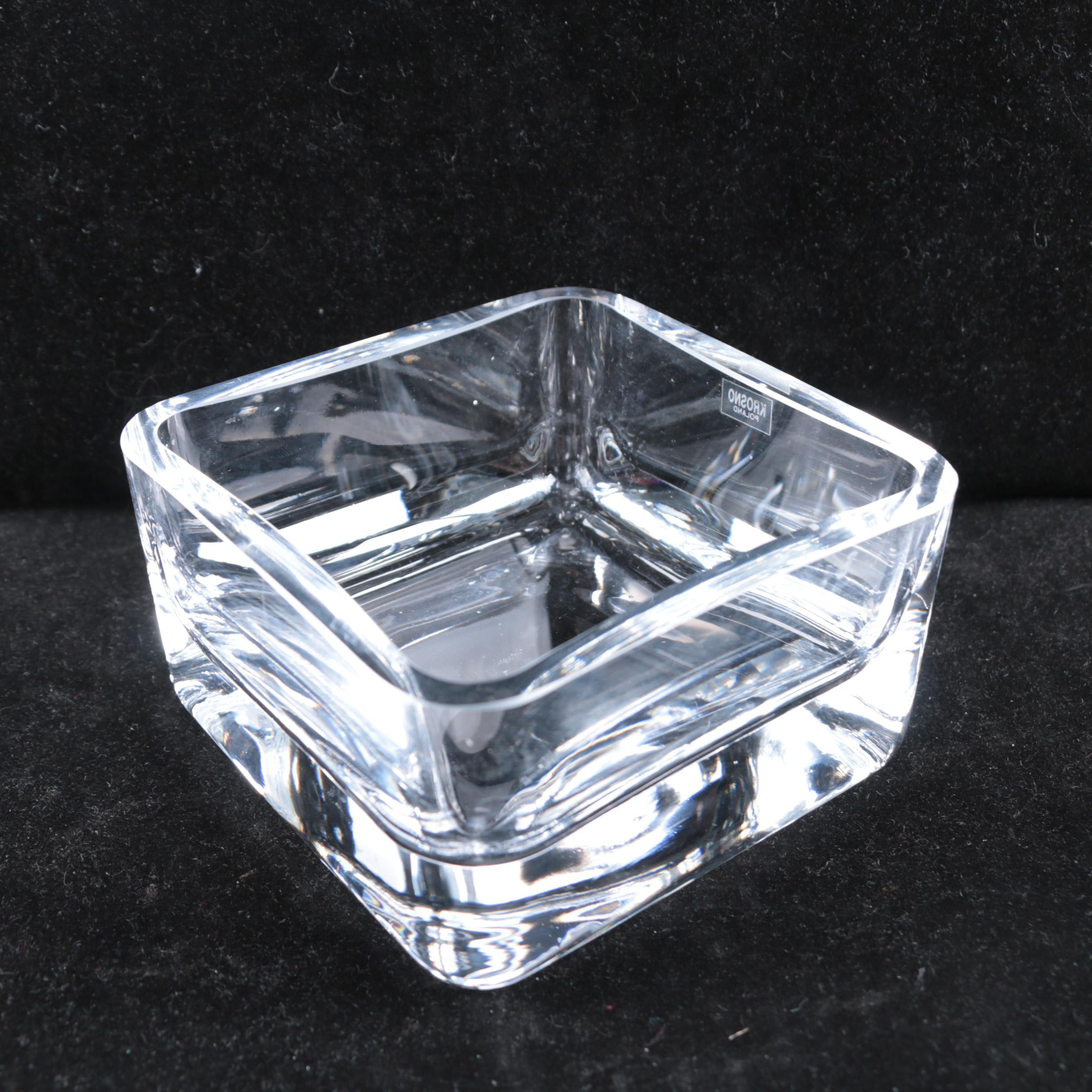 Krosno Poland Crystal Dish