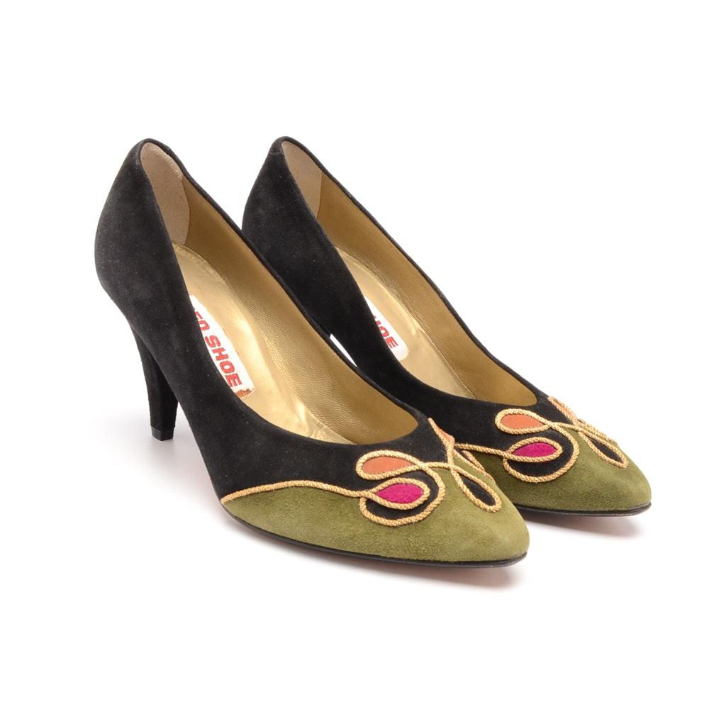 Vintage Red Shoe Suede Pumps