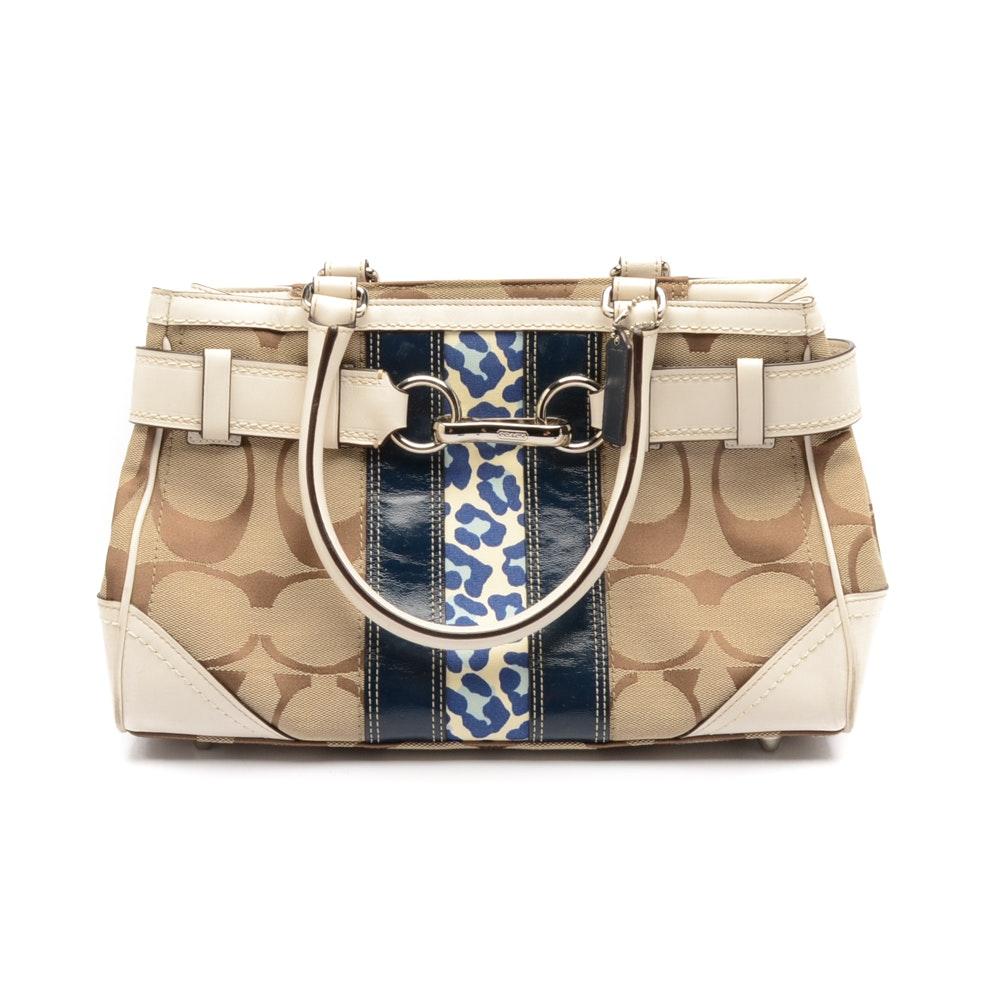 Coach Signature Hamptons Satchel Handbag