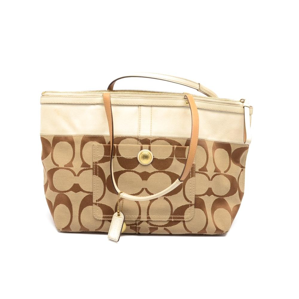 Coach Signature Tote Handbag