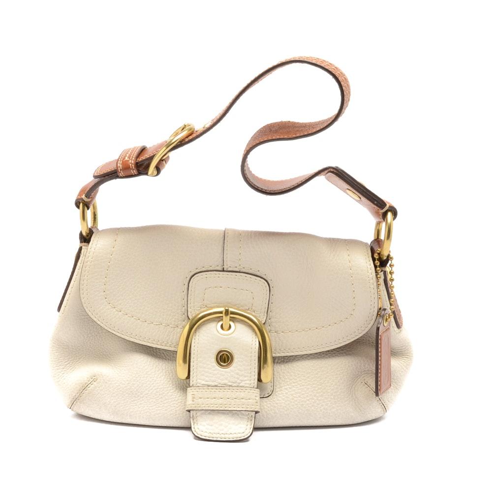 Coach Soho White Leather Hobo Handbag