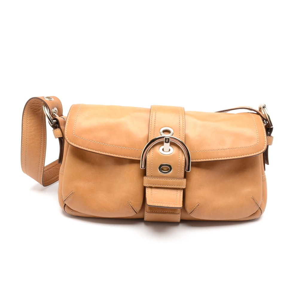Coach Camel Leather Soho Buckle Handbag