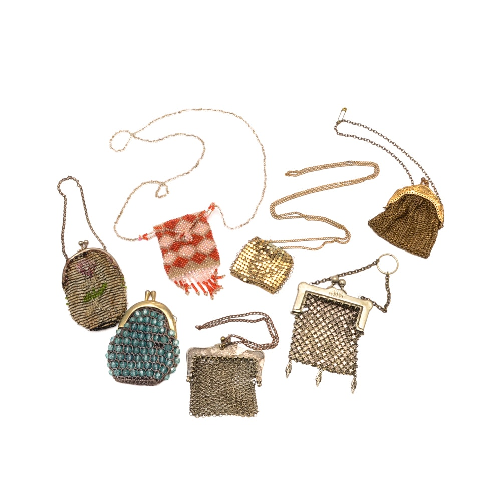 Collection of Vintage Mesh and Beaded Coin Purses