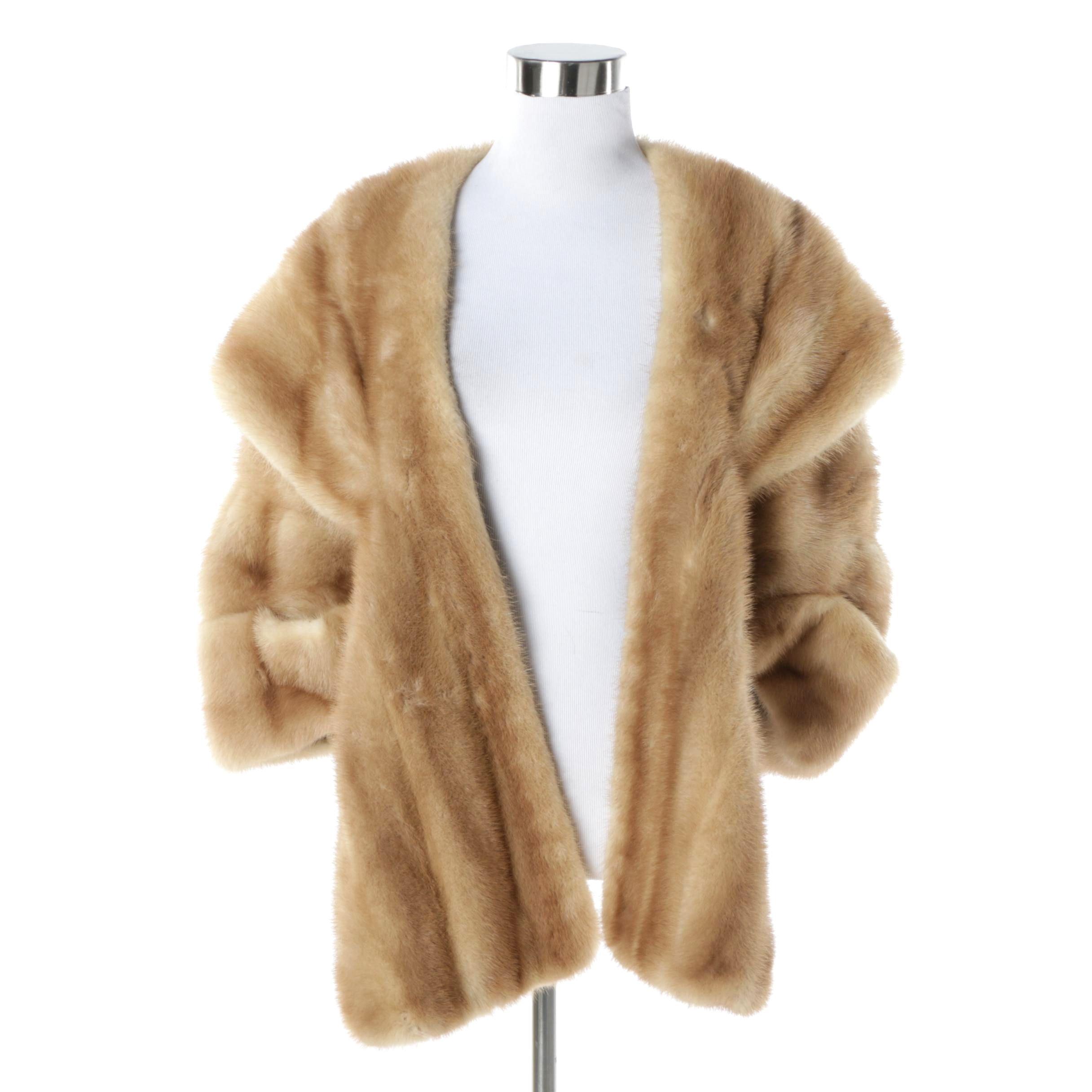 Women's Vintage Rich Schwartz Mink Fur Stole