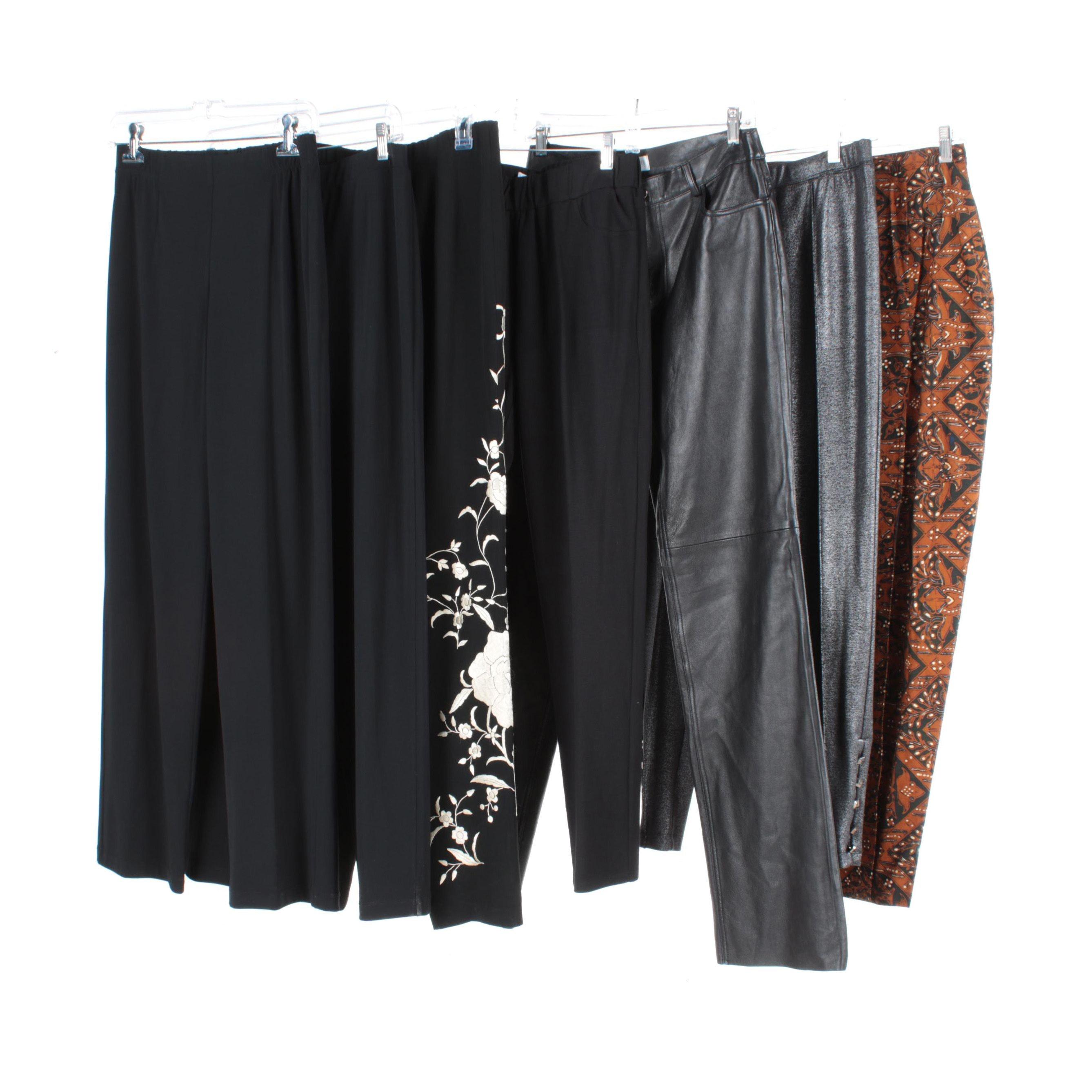 Women's Pants Including Hugo Buscati Leather Pants