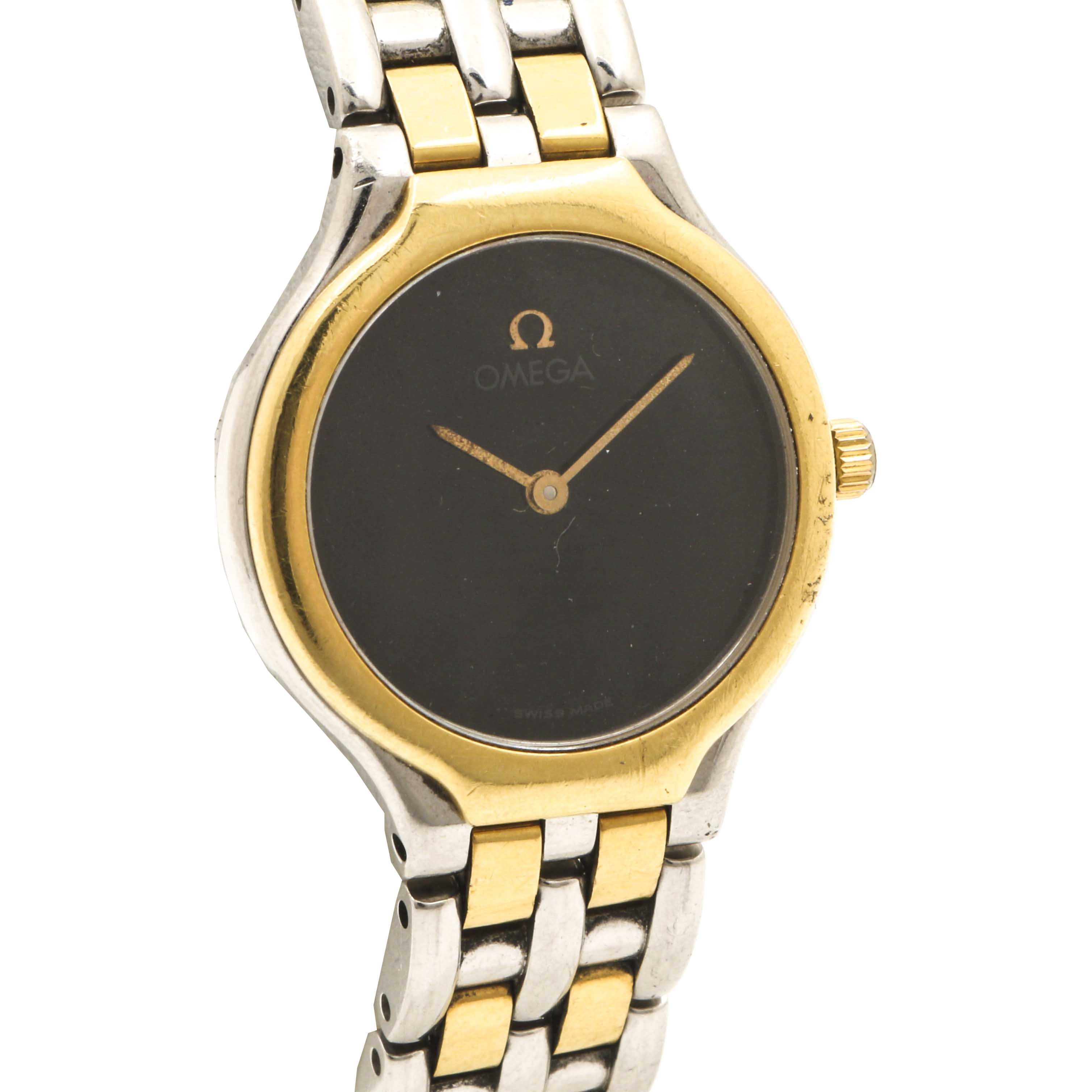 Omega Swiss Made Stainless Steel Wristwatch