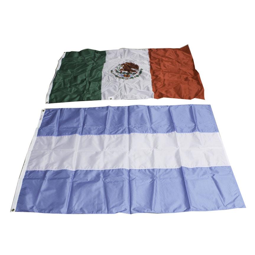 "Mexican National Flag and ""J"" International Signal Flag"