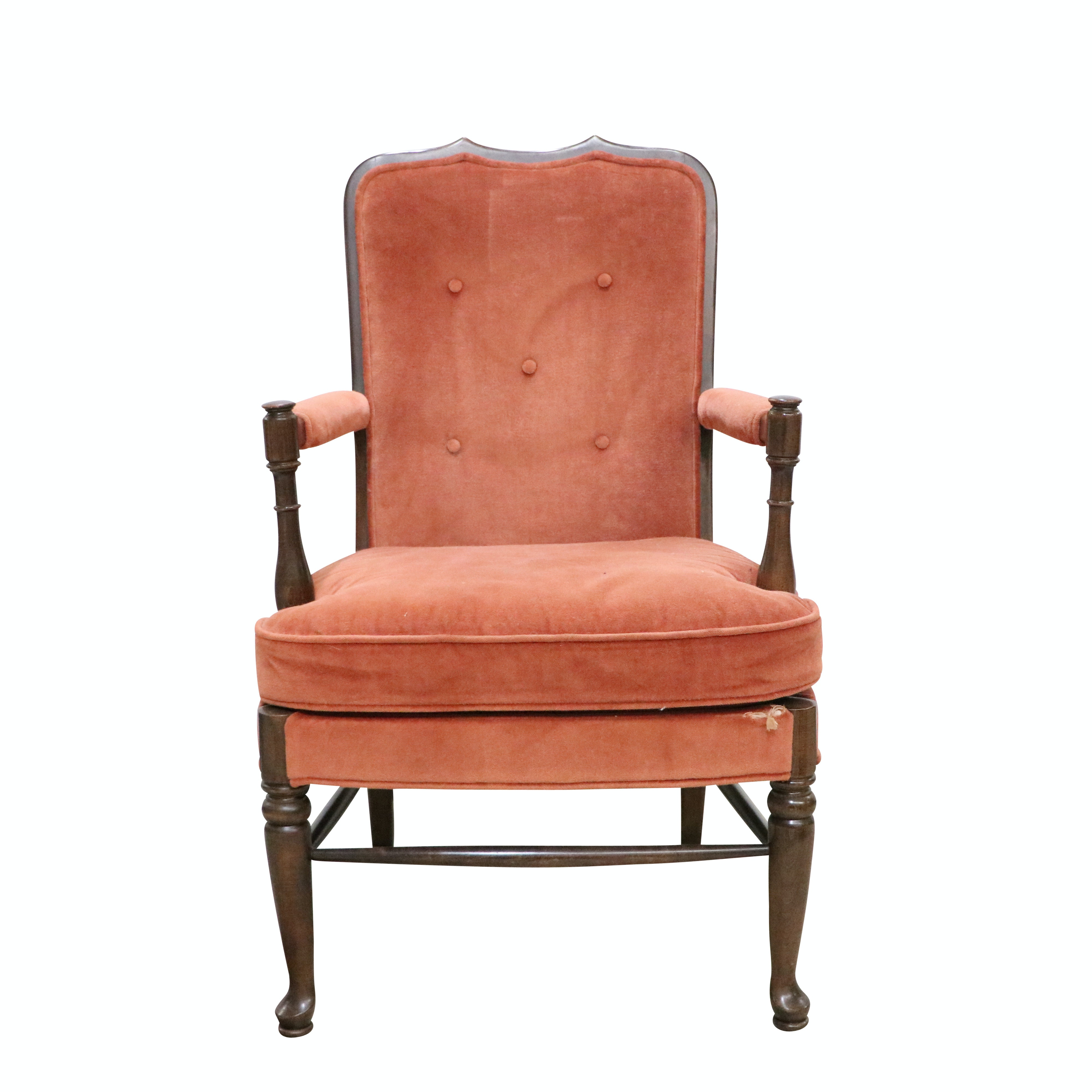 Vintage Upholstered Armchair by Ethan Allen