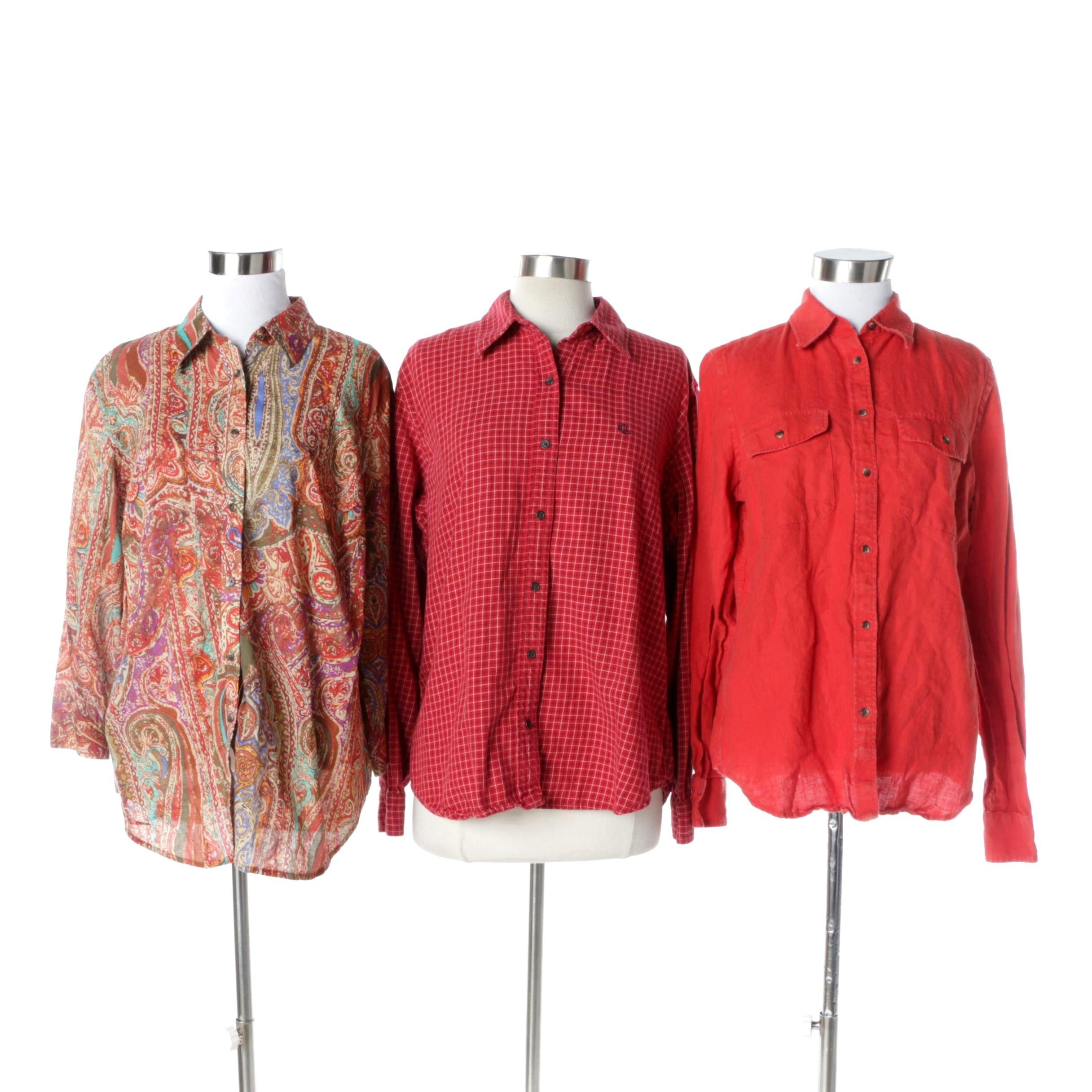 Women's Lauren Ralph Lauren Button-Up Blouse and Shirts