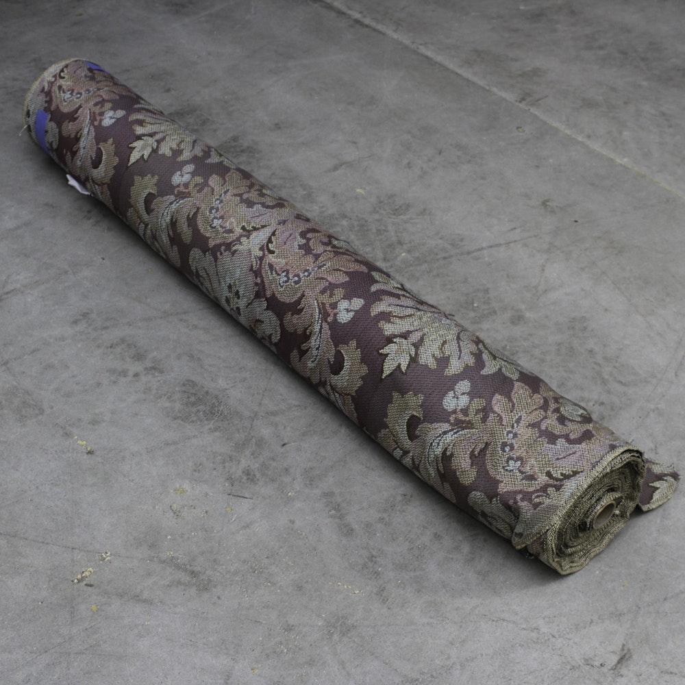 Damask Style Wool Fabric Role