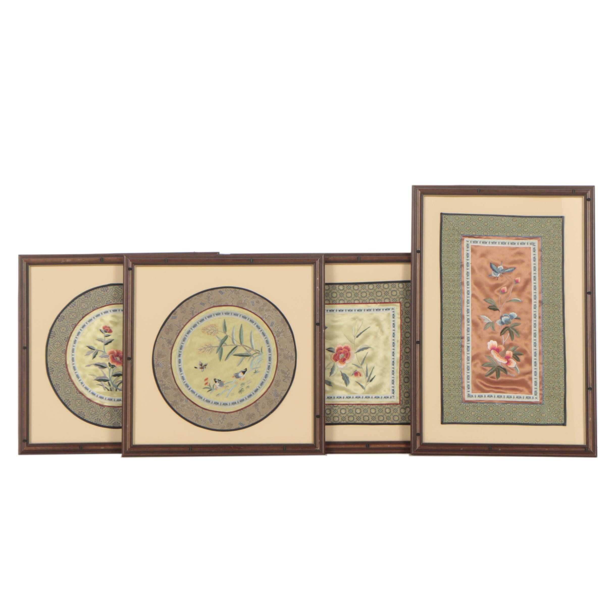 Chinese Style Silk Embroideries