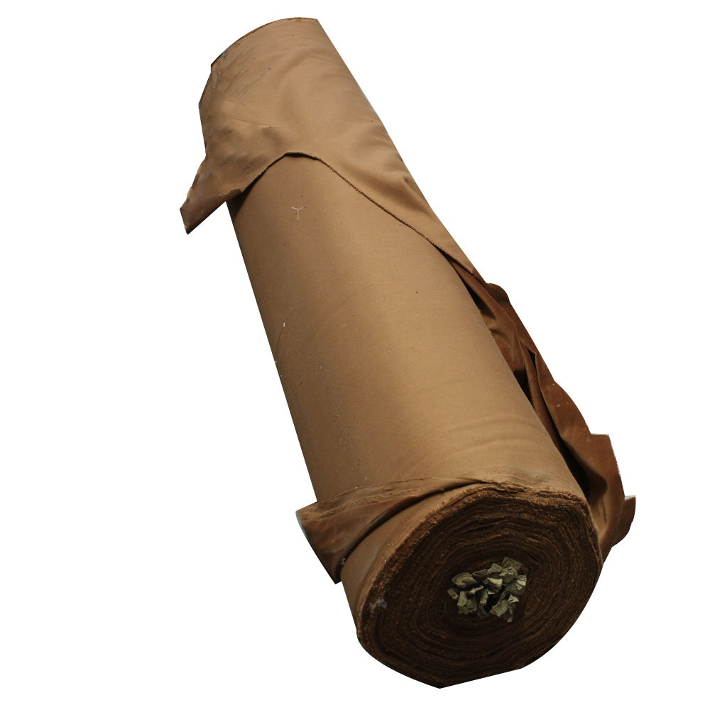 Tawny Brown Polyester Fabric Bolt