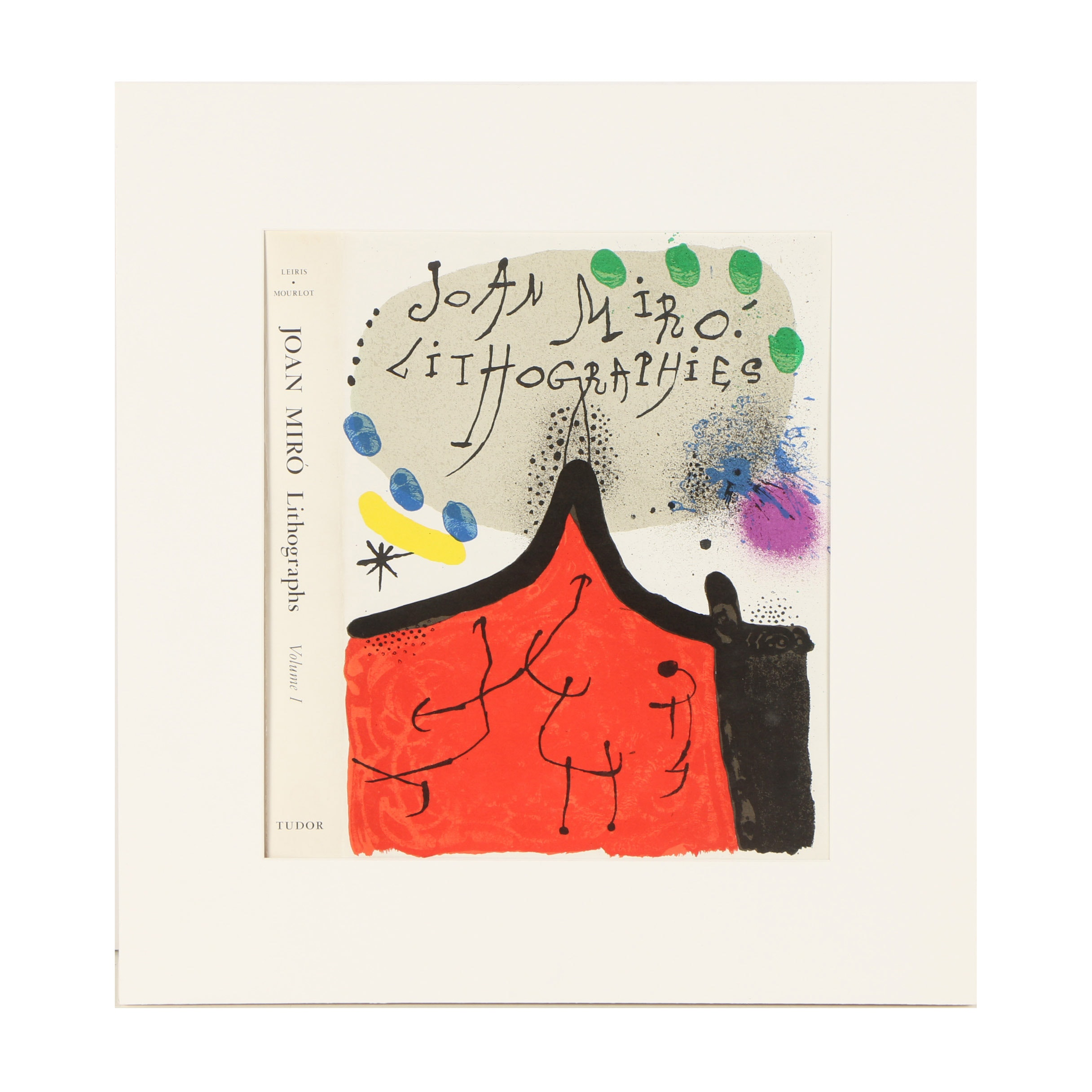 """Joan Miró Color Lithograph Cover for """"Lithographs I"""""""