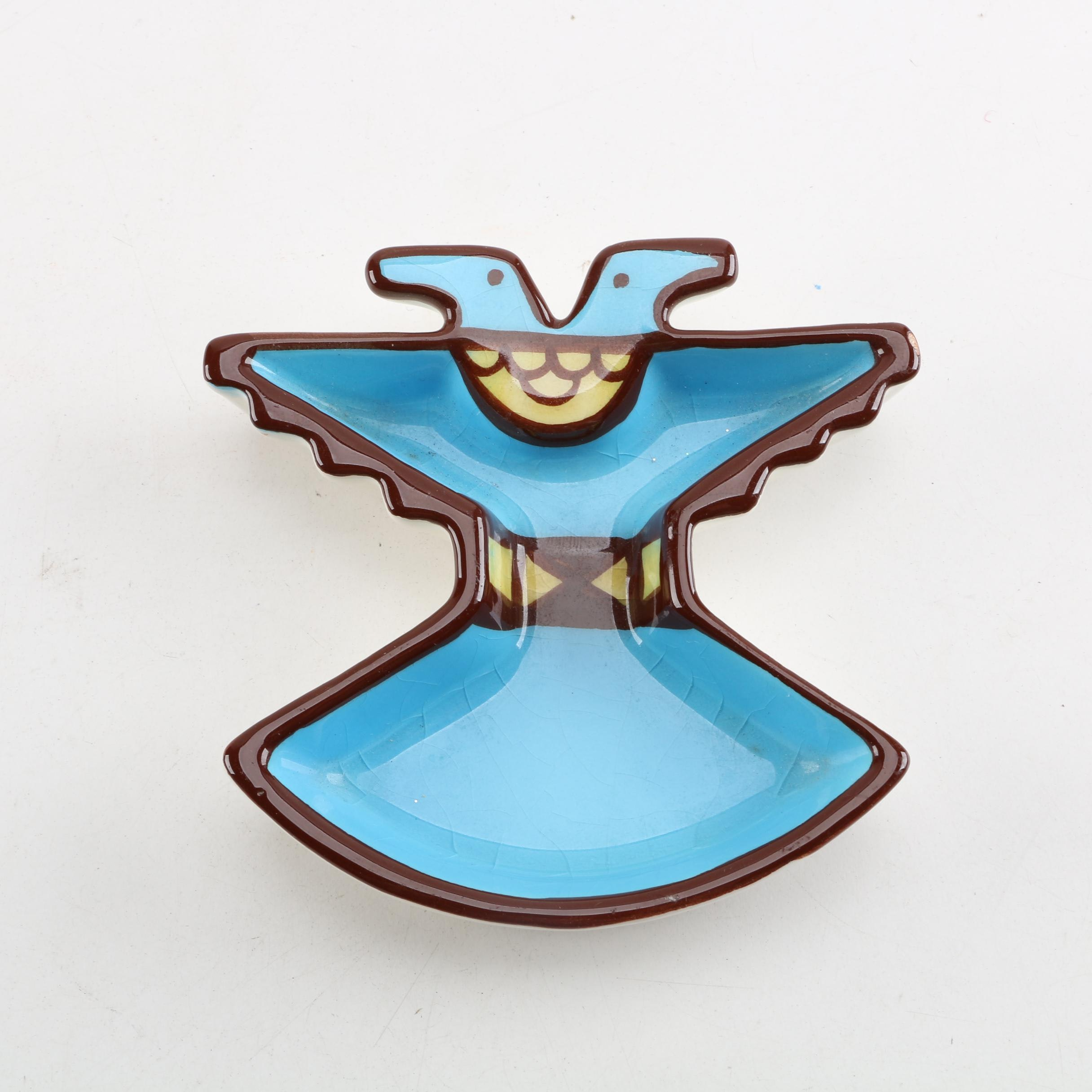 Vintage Sims Native American-Themed Thunderbird Pin Dish